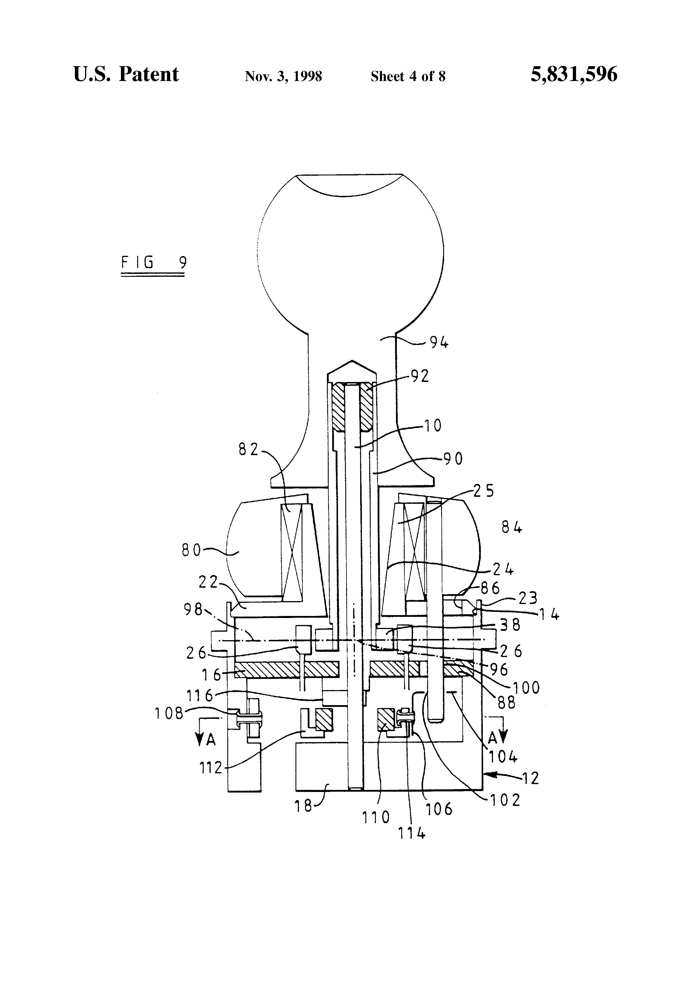 US5831596 4 patent us5831596 joystick controller using magnetic position sauer danfoss joystick wiring diagram at cos-gaming.co