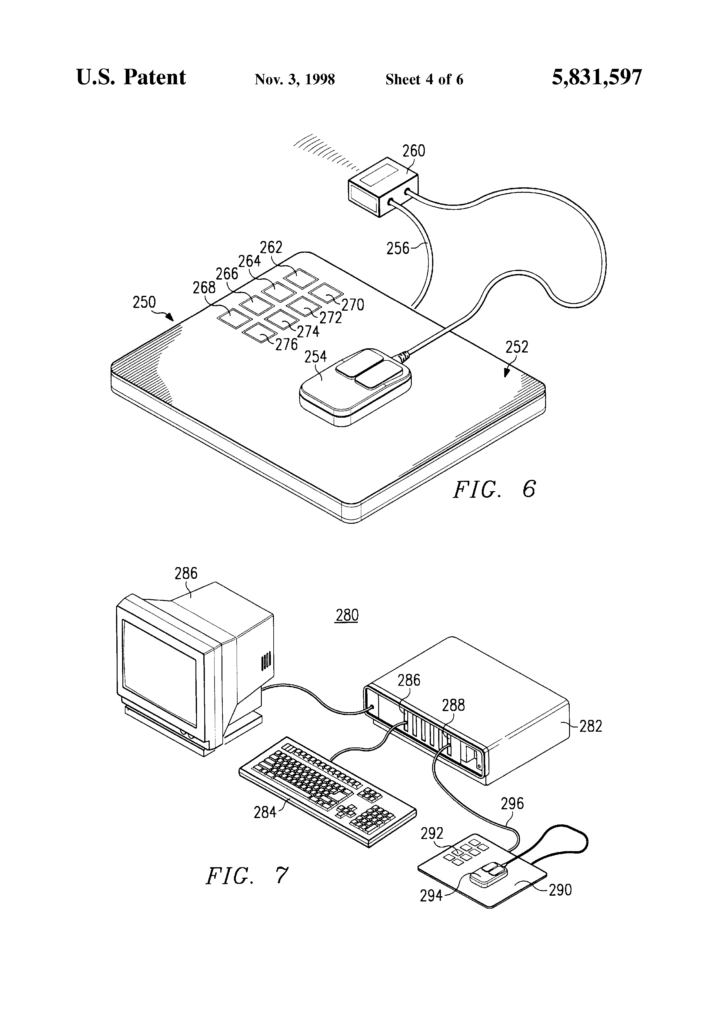 patent us5831597