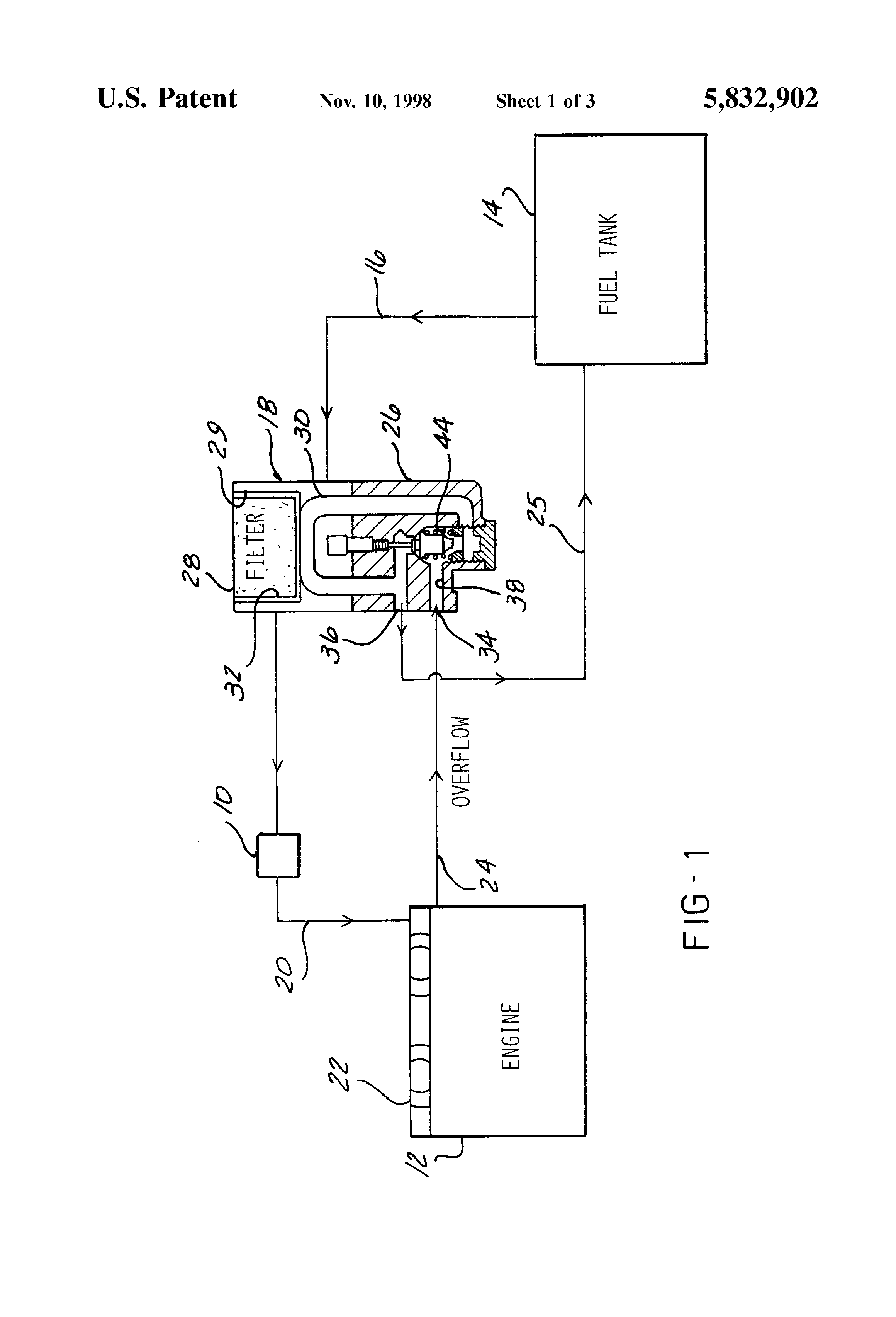 Patent Us5832902 Fuel Temperature Control Bypass Circuit Google Davco Filter Housing Drawing