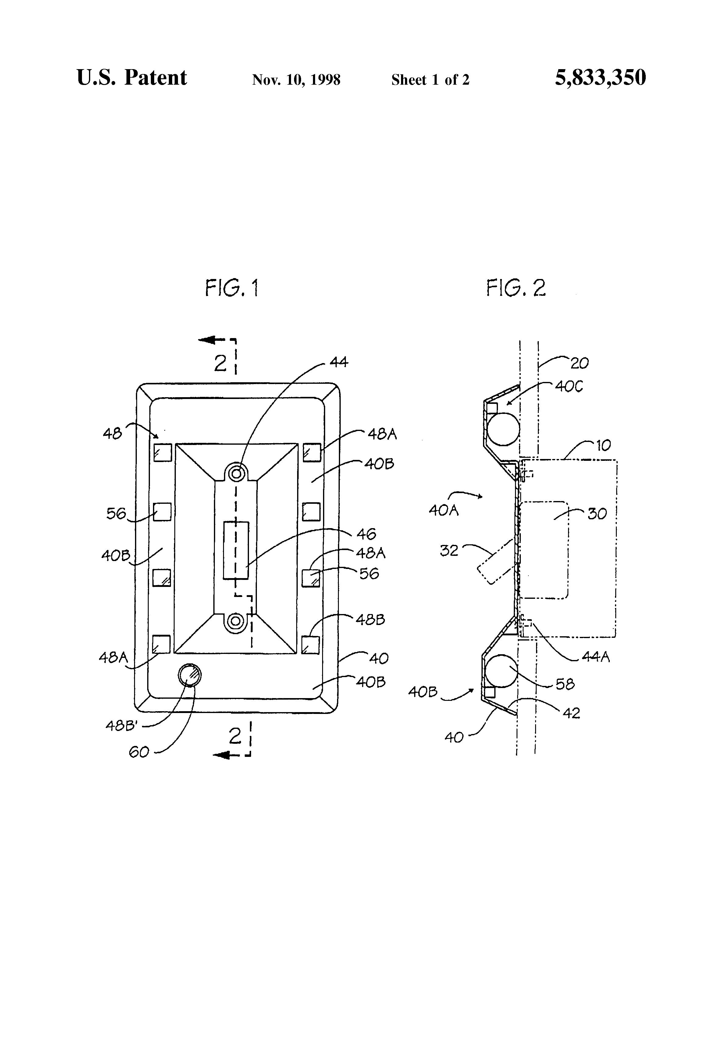 patent us5833350