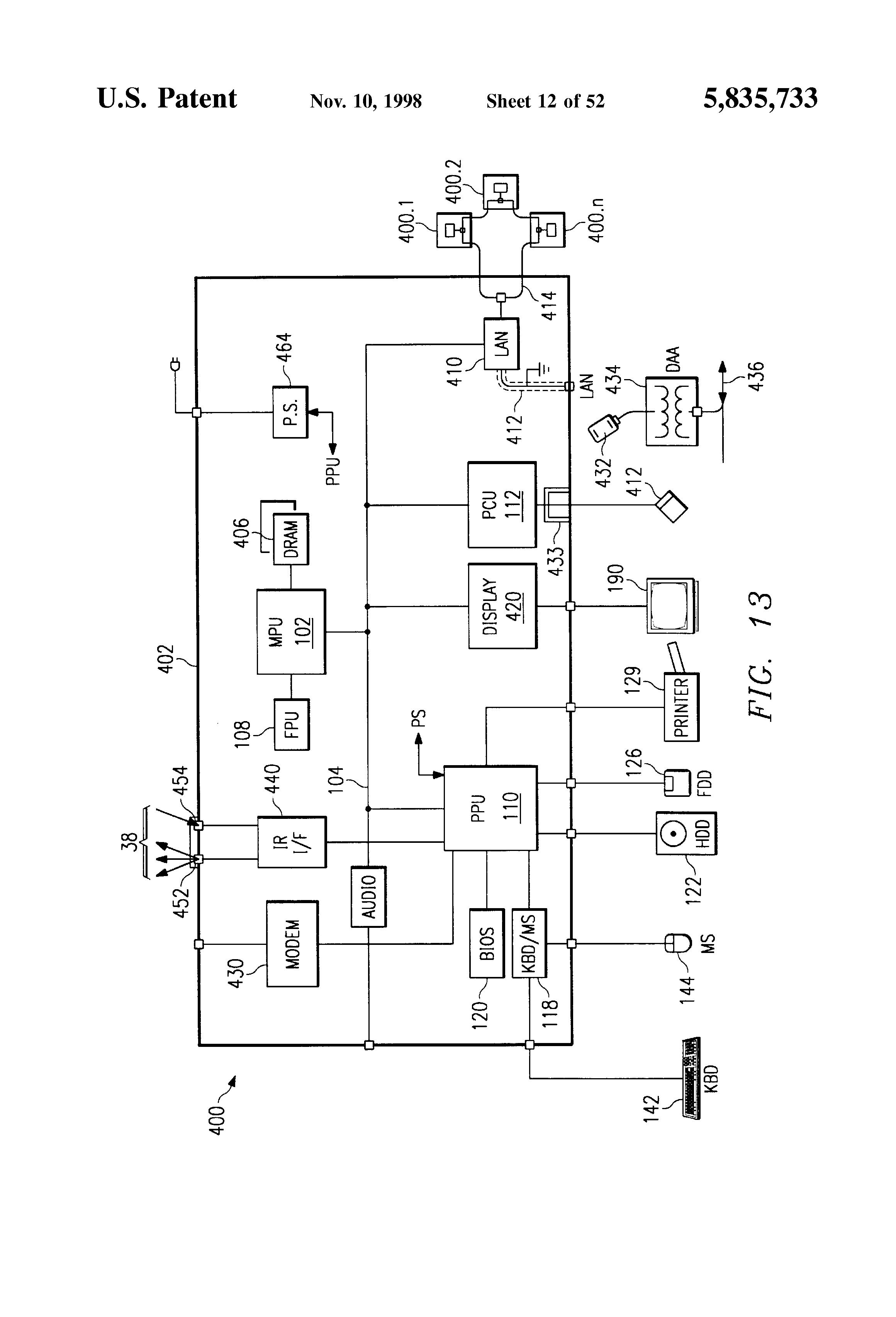 notebook computer memory diagram