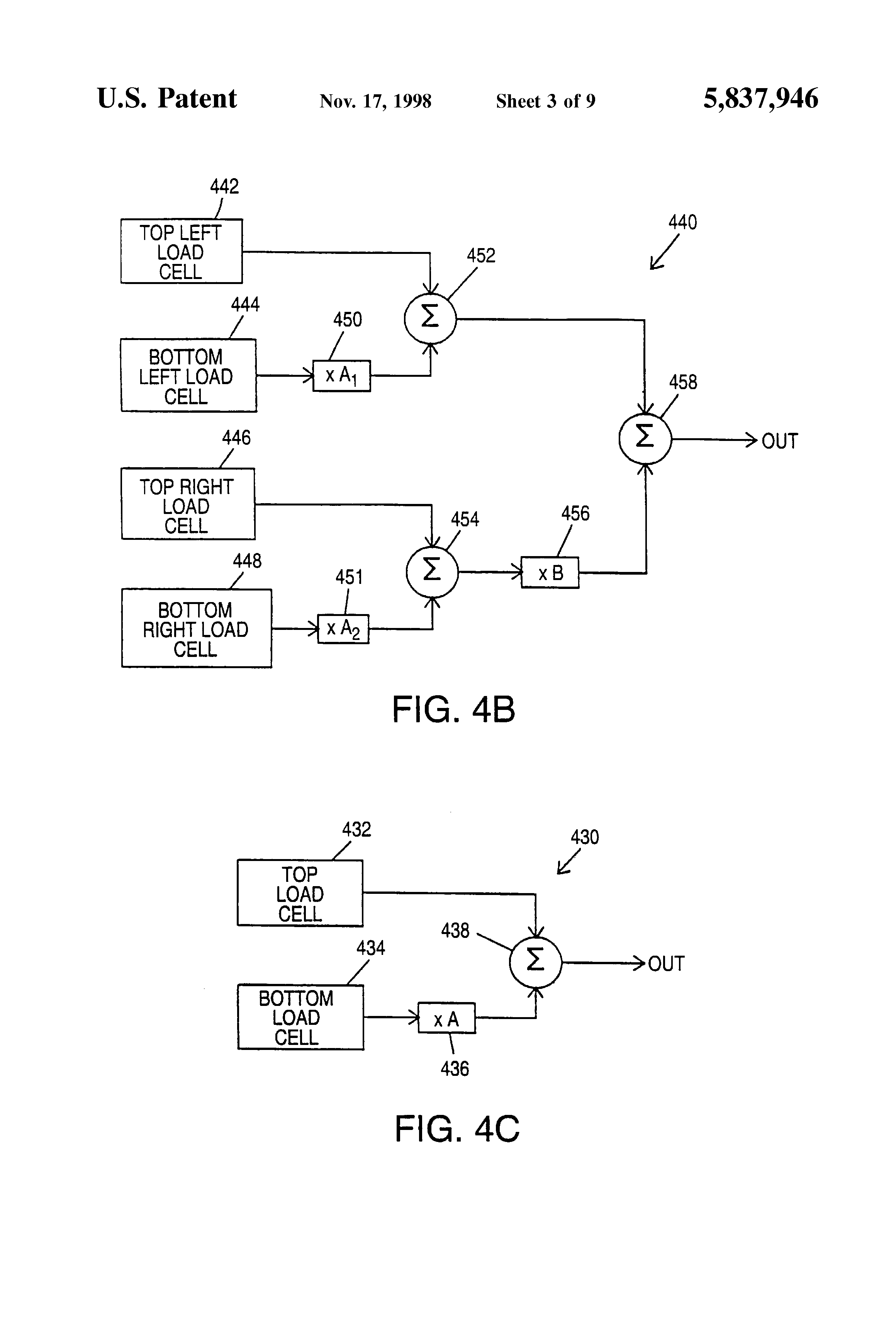 patent us5837946 force sensitive scale and dual load sensor cell   clark gcx25 wiring diagram 1993