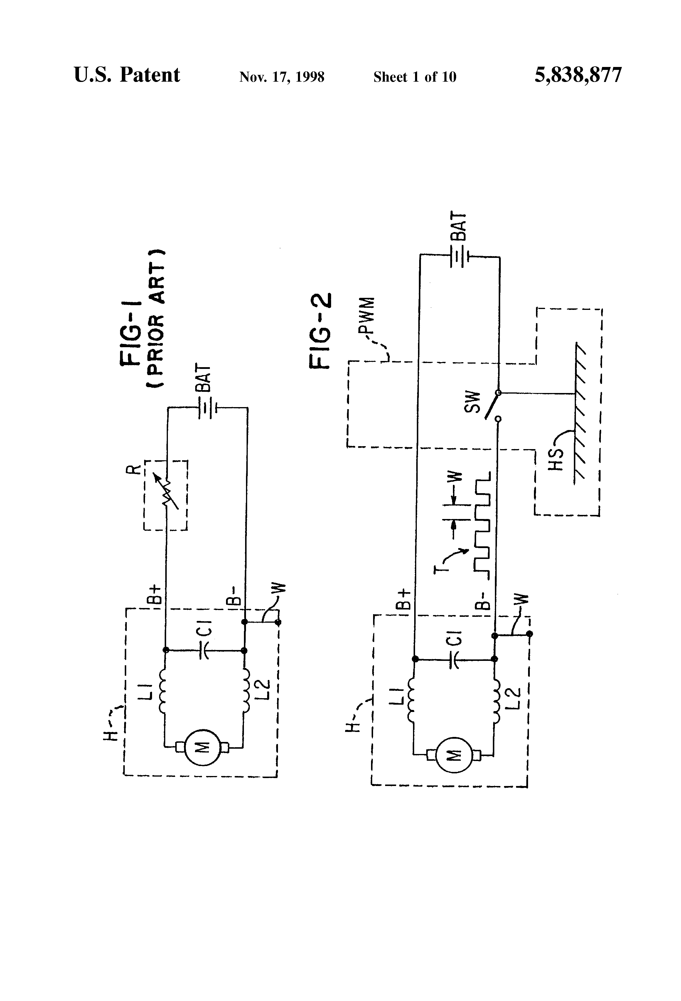 dc motor noise suppression capacitor