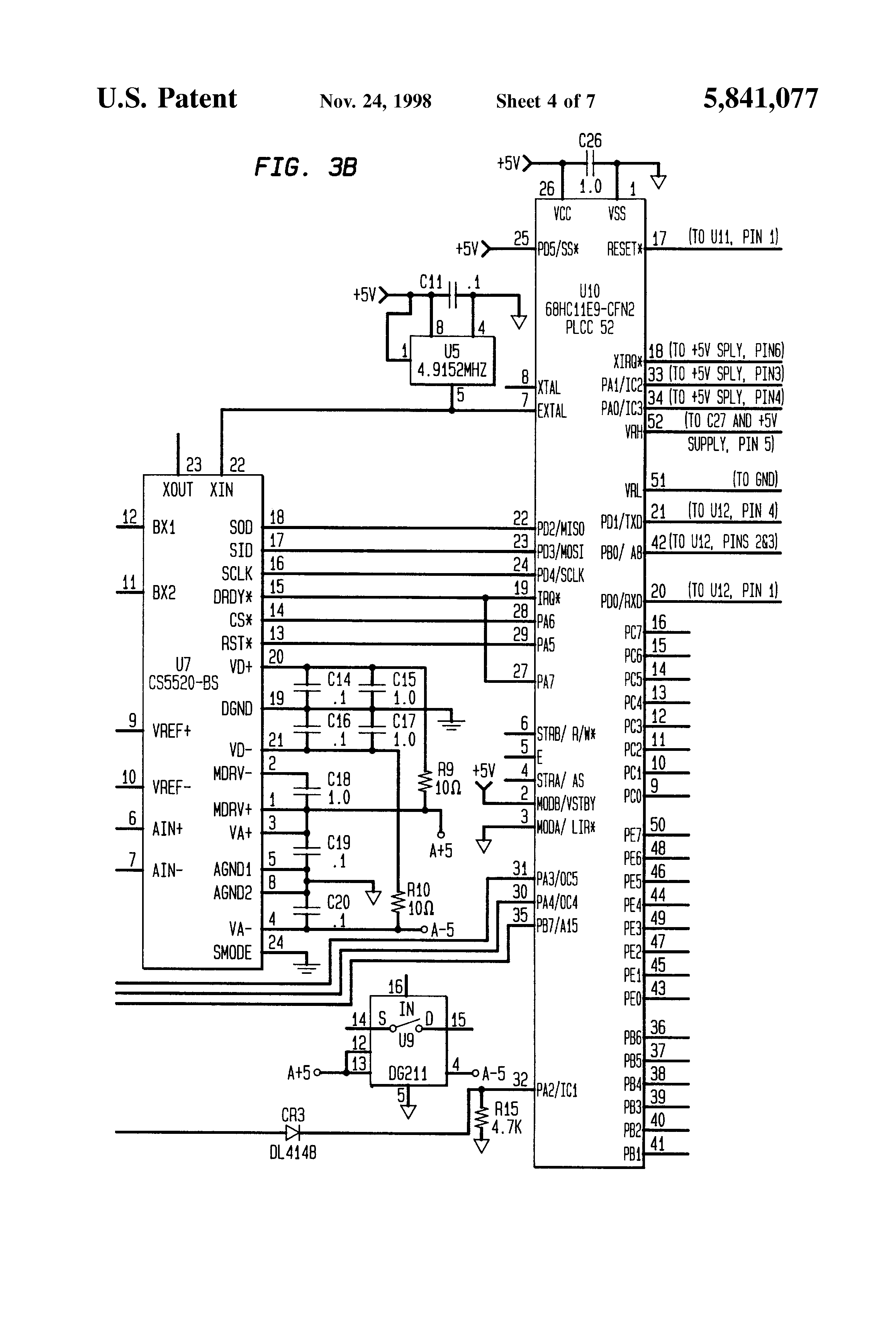 US5841077 4 patent us5841077 digital load cell assembly google patents interface load cell wiring diagram at mifinder.co
