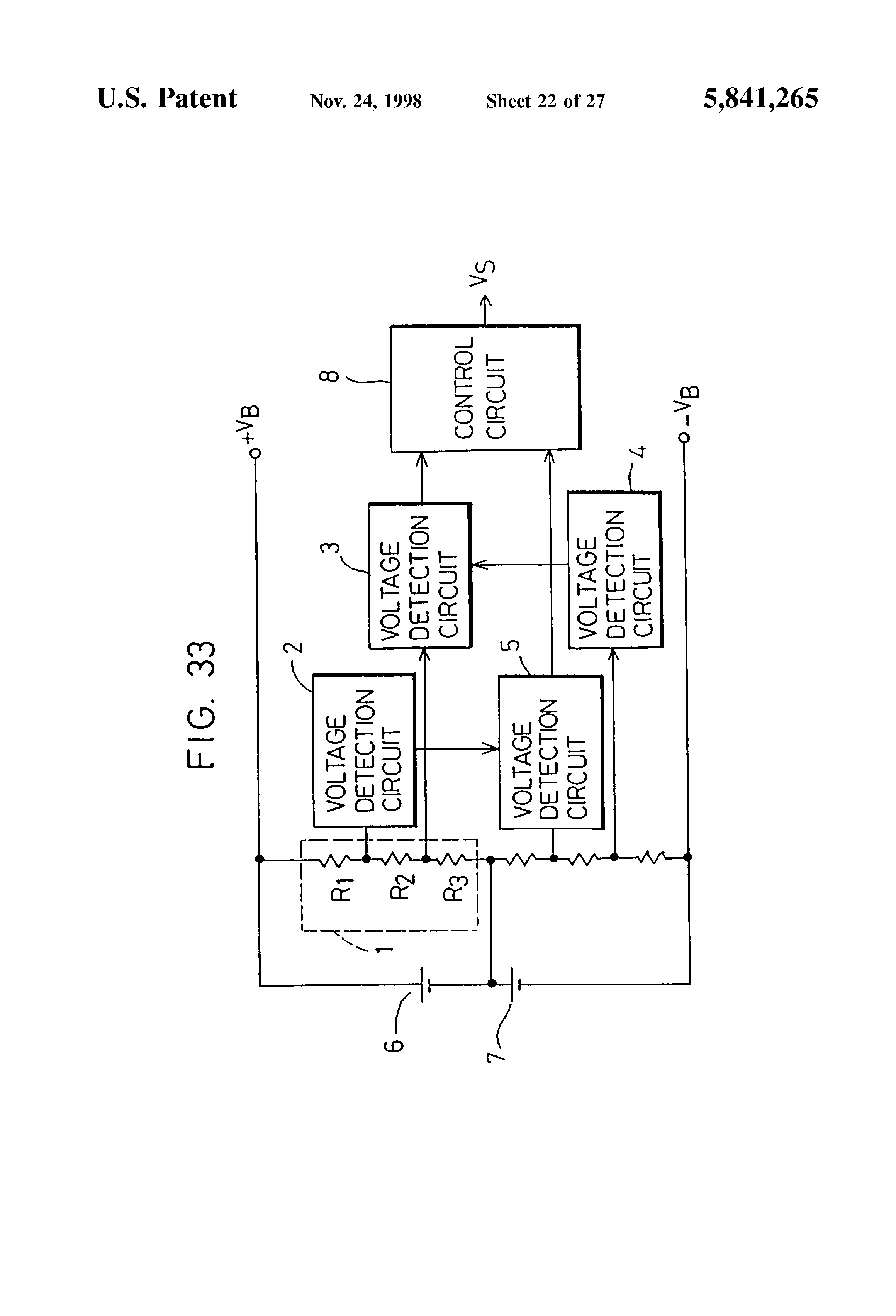 Patent Us5841265 Charge Discharge Control Circuit And Chargeable The Time Delay With A Fet Controlcircuit Diagram Drawing