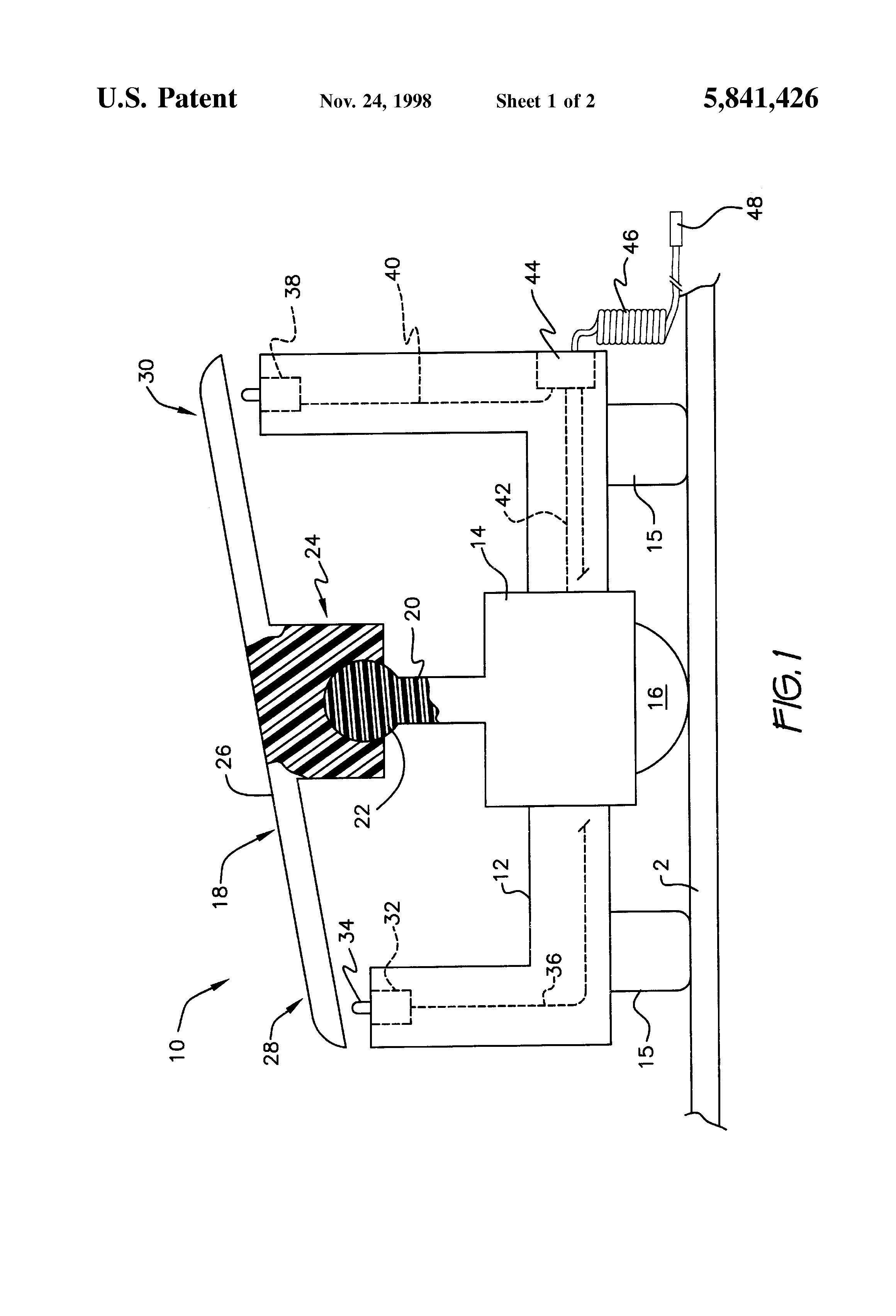 Patent Us5841426 Foot Operated Computer Mouse Google Patents Diagram Drawing
