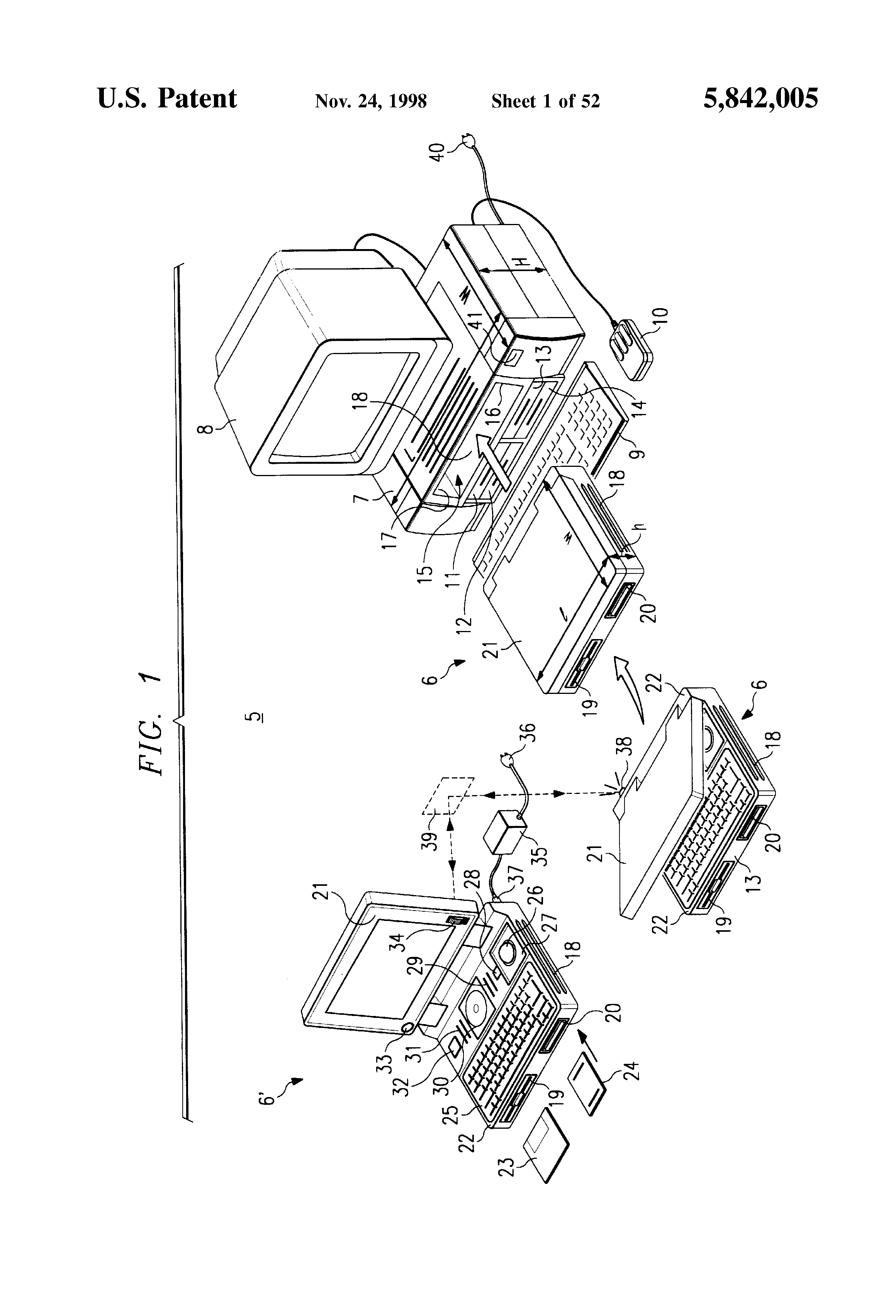 Patent Us5842005 Clock Control Circuits Systems And Methods Likewise Digital Circuit Diagram On Nixie Schematic Drawing