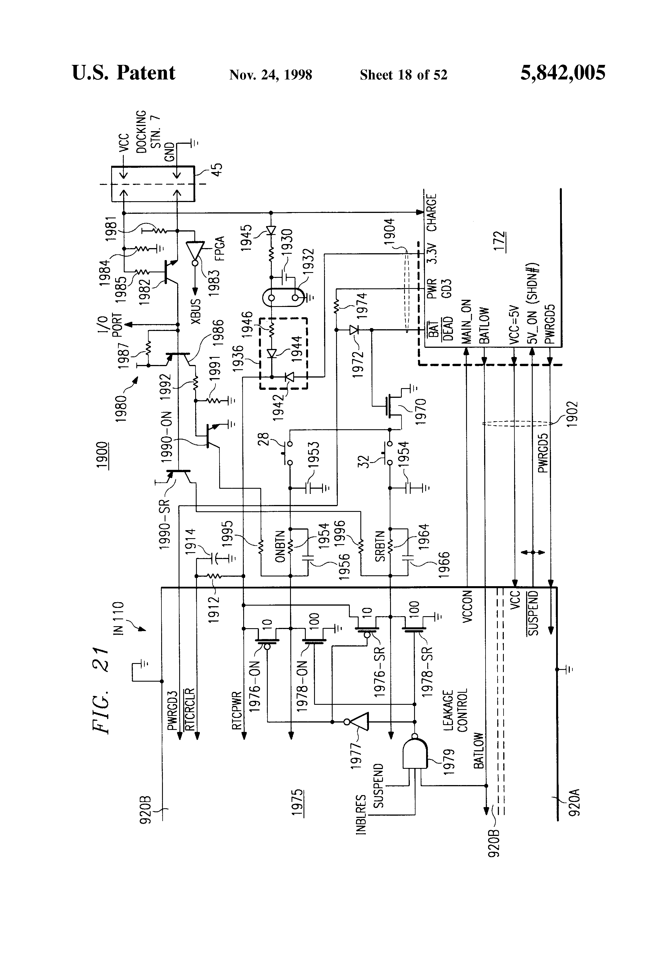 Patent Us5842005 Clock Control Circuits Systems And Methods Rcs Prevents Triggering A Timer B Unless Is Triggered By Drawing