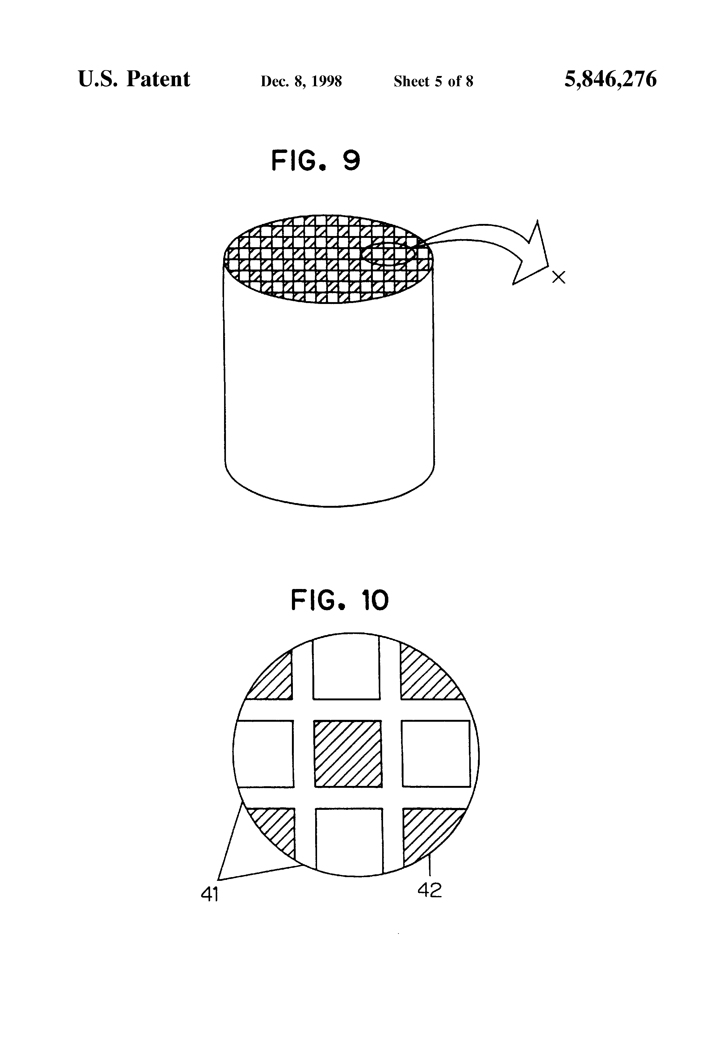 patent us5846276 - exhaust gas filter