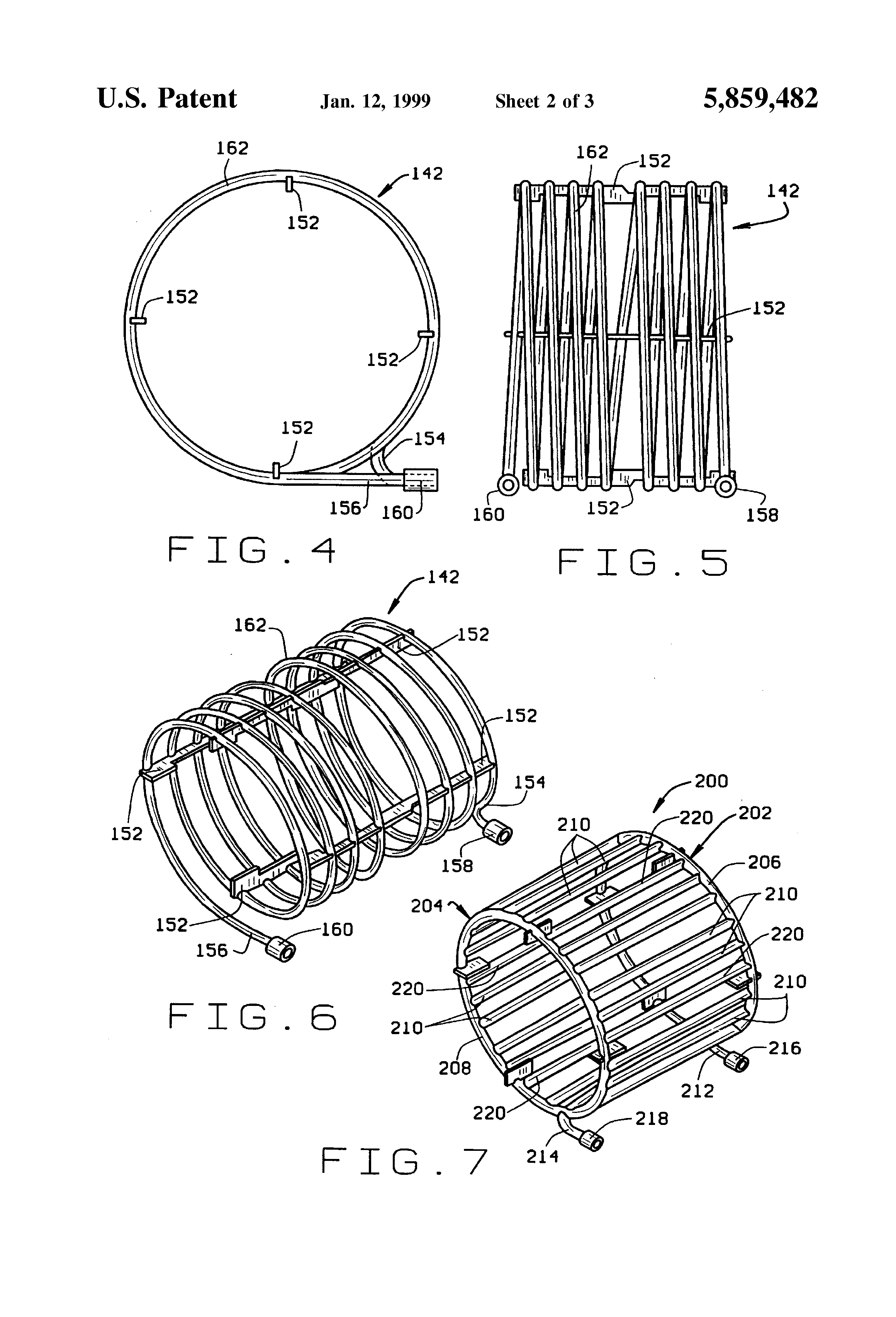 Patent Us5859482 Liquid Cooled Electric Motor Frame