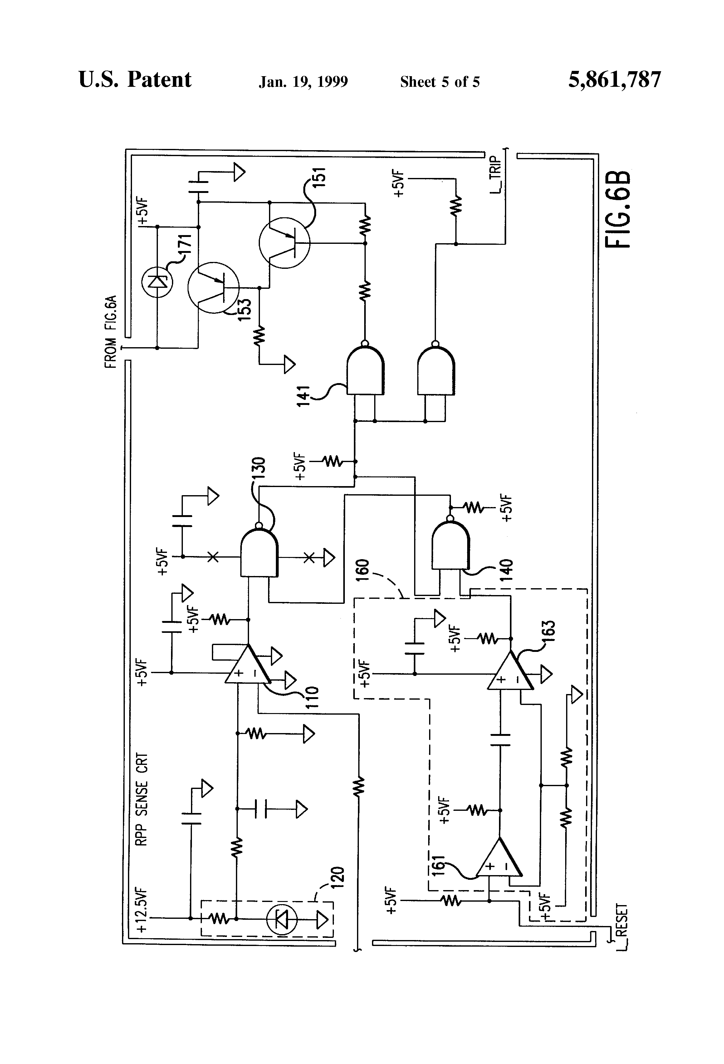 patent us5861787 - reverse power protection circuit and relay