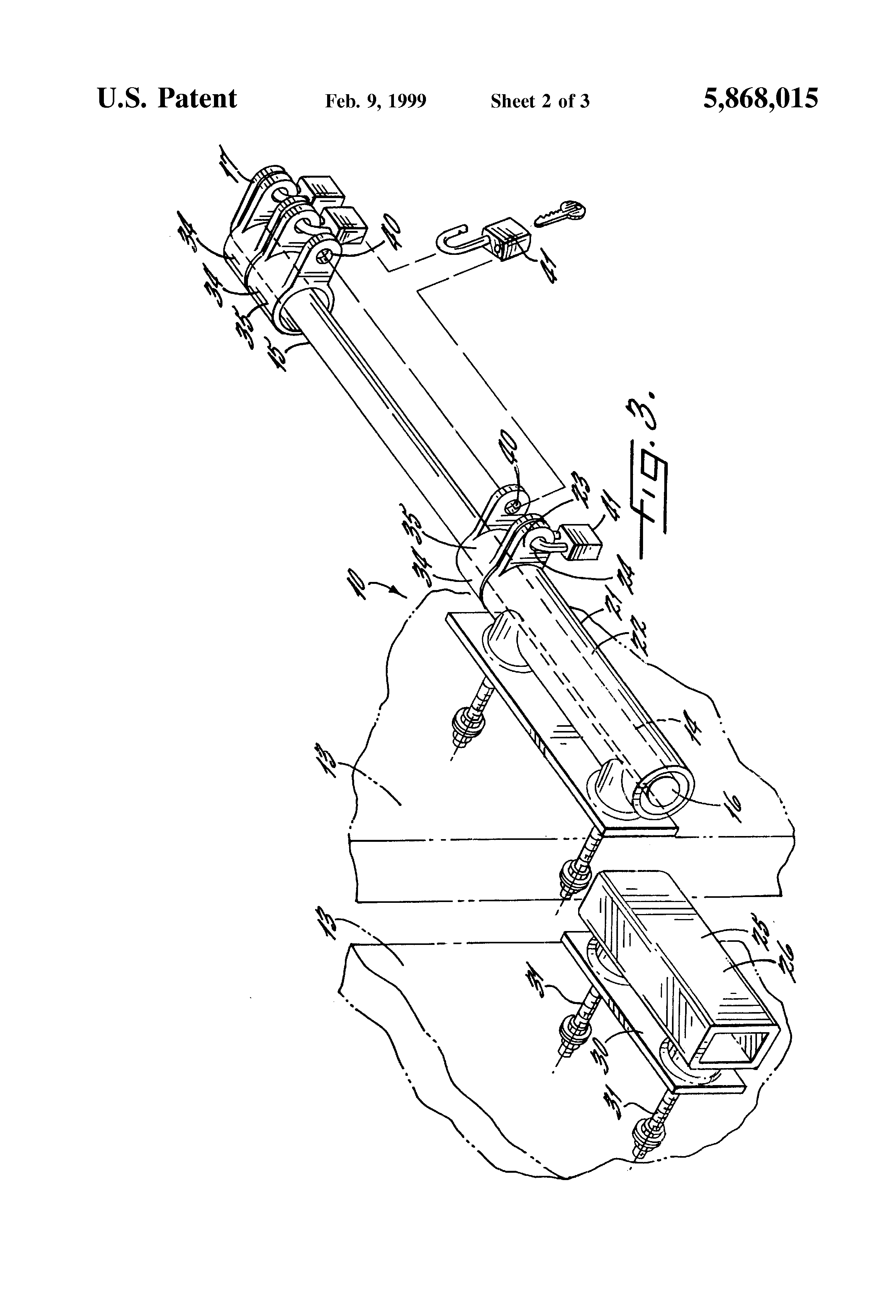 patent us5868015 - multiple access locking device