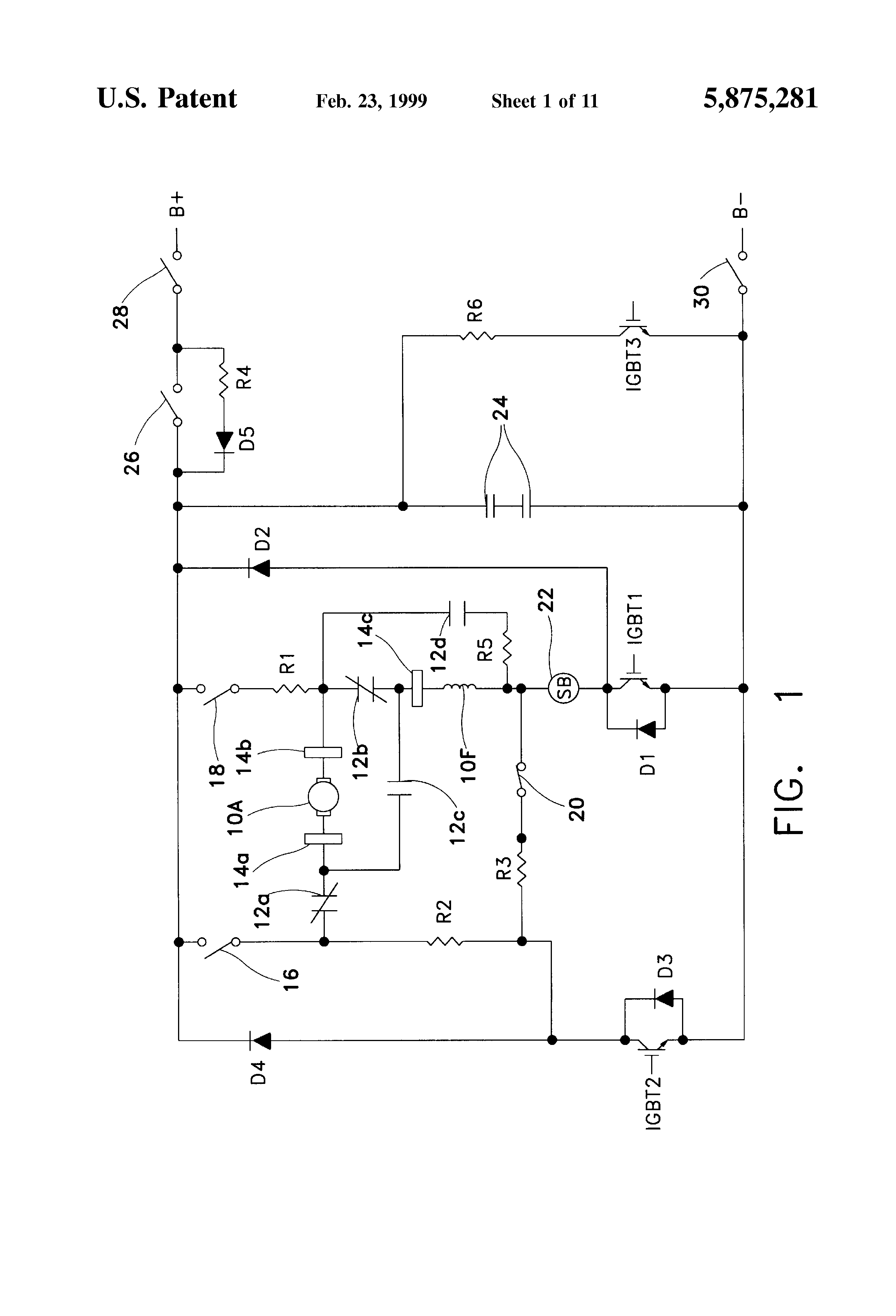 Patent Us5875281 Dc Solid State Series Wound Motor Drive Google Ac Speed Control Circuit Reversing Polarity Drawing