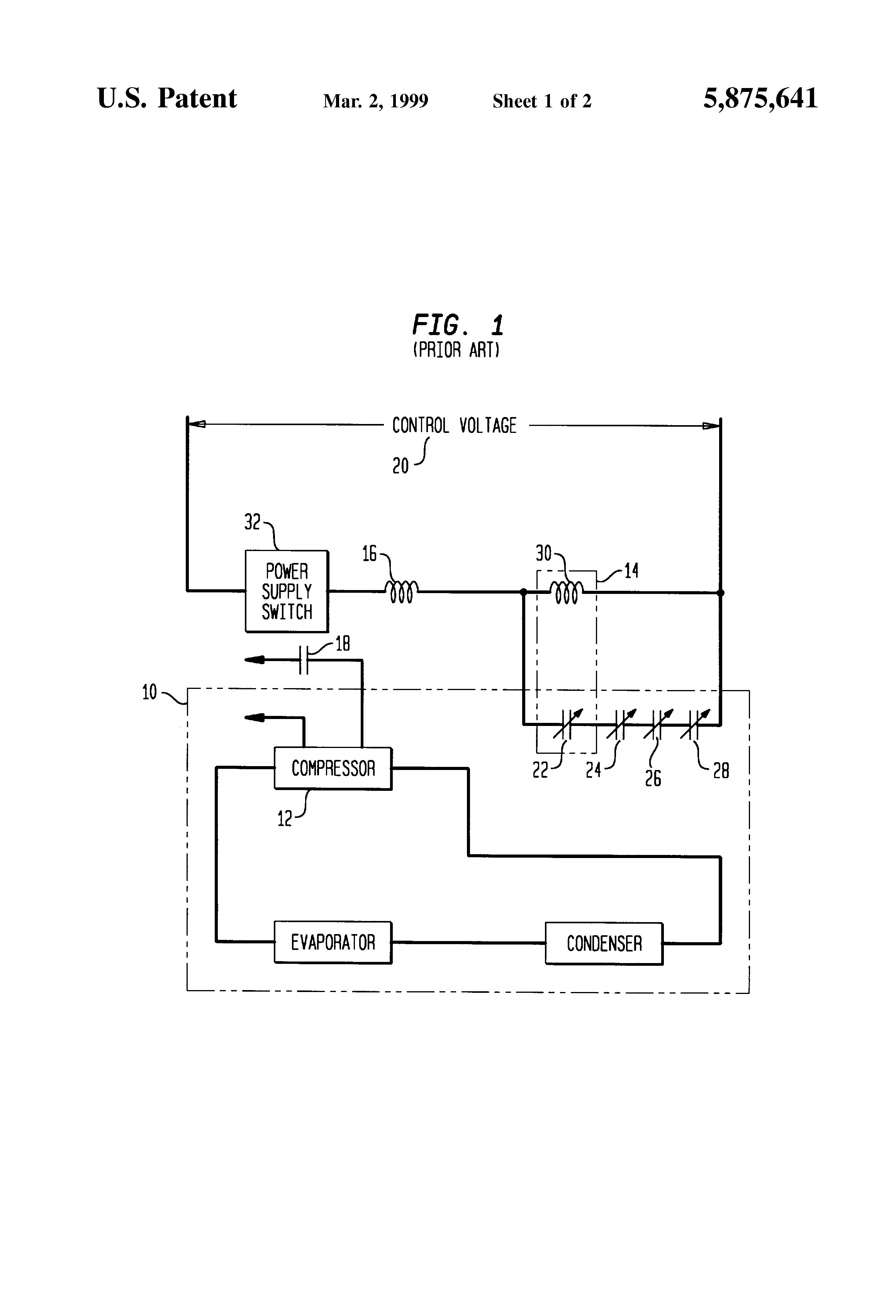 Patent Us5875641 Contactor With Solid State Protection Circuit For Current Sensing Lockout Relay Drawing