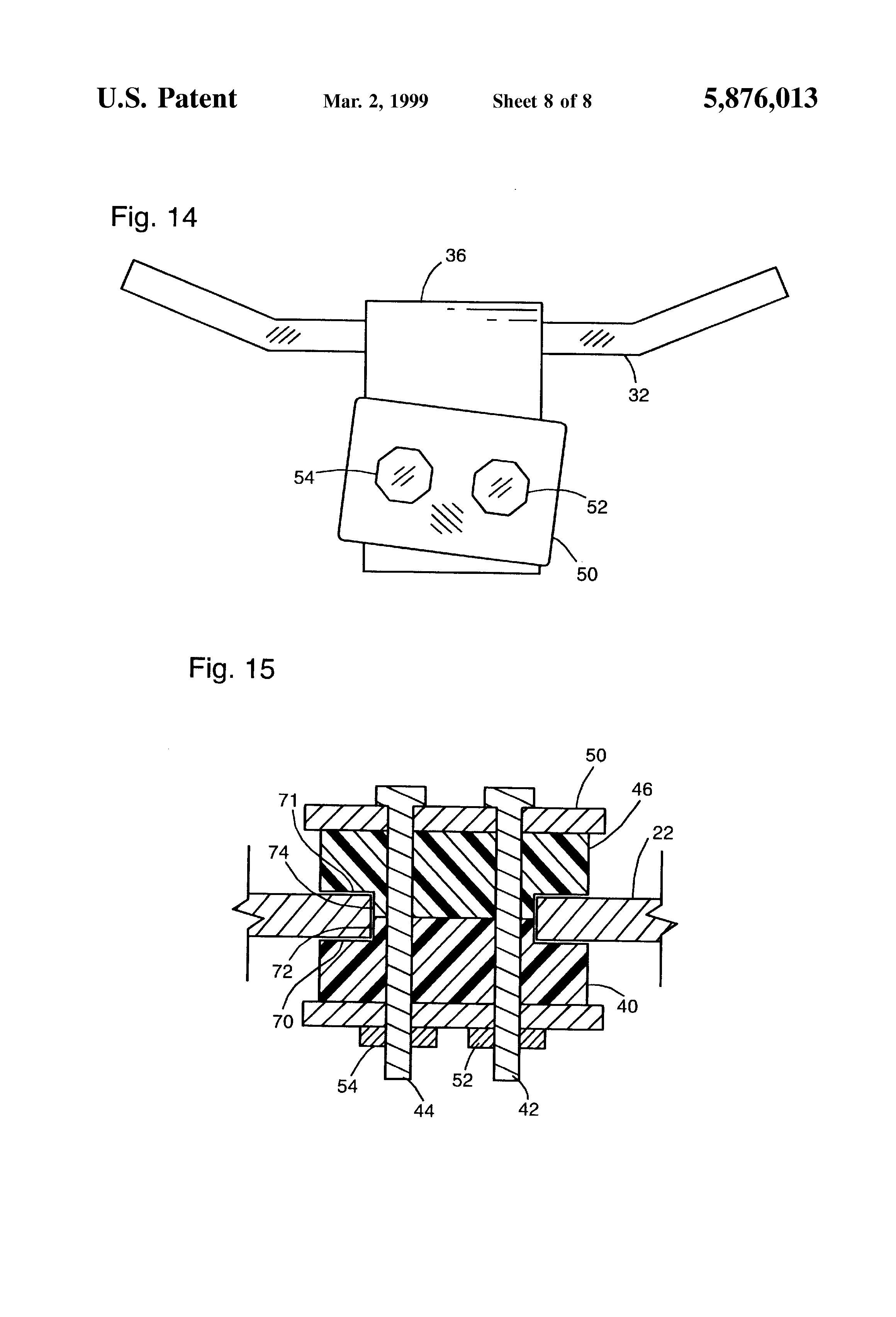 Patente us5876013 vibration dampening engine mount for Vibration dampening motor mounts