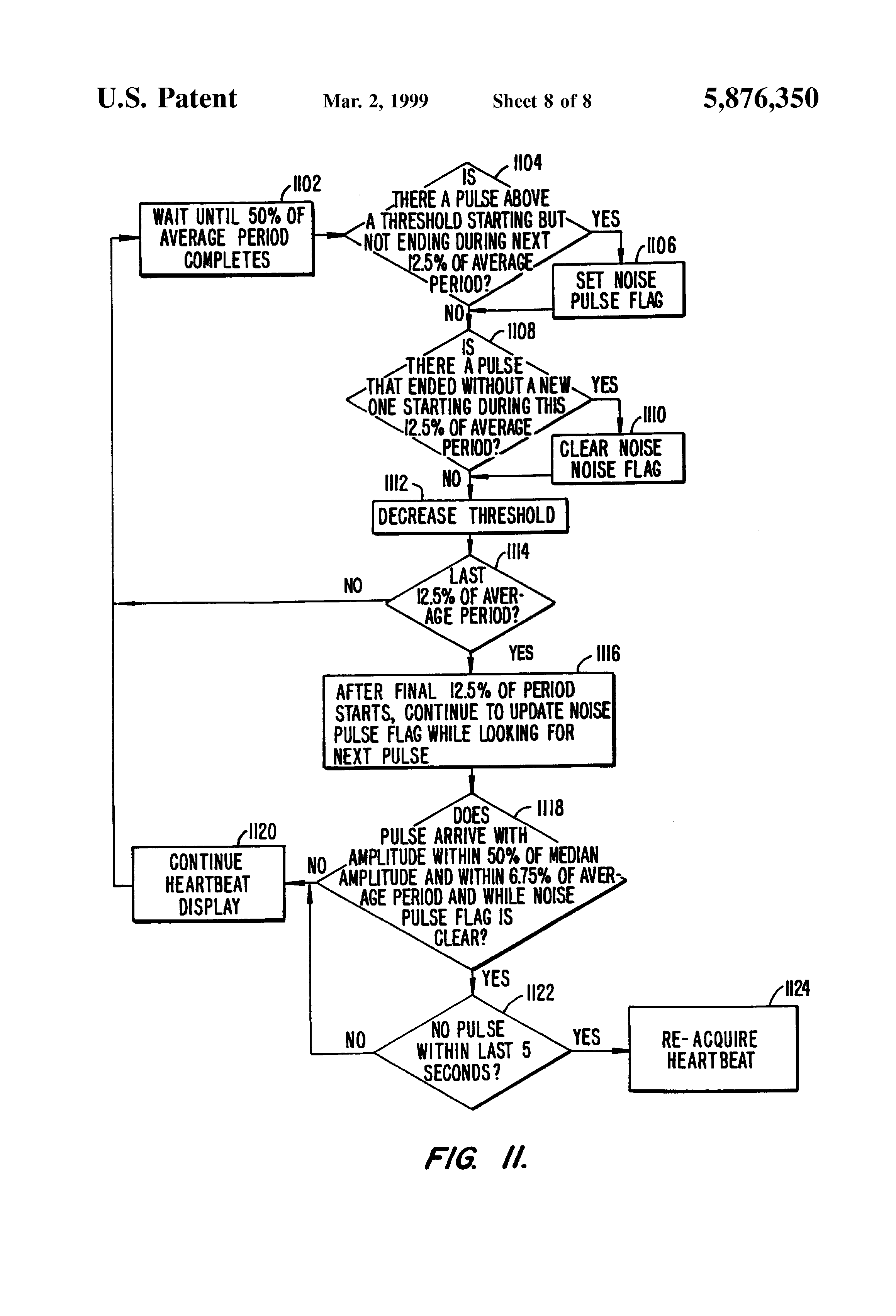 Patent Us5876350 Ekg Based Heart Rate Monitor With
