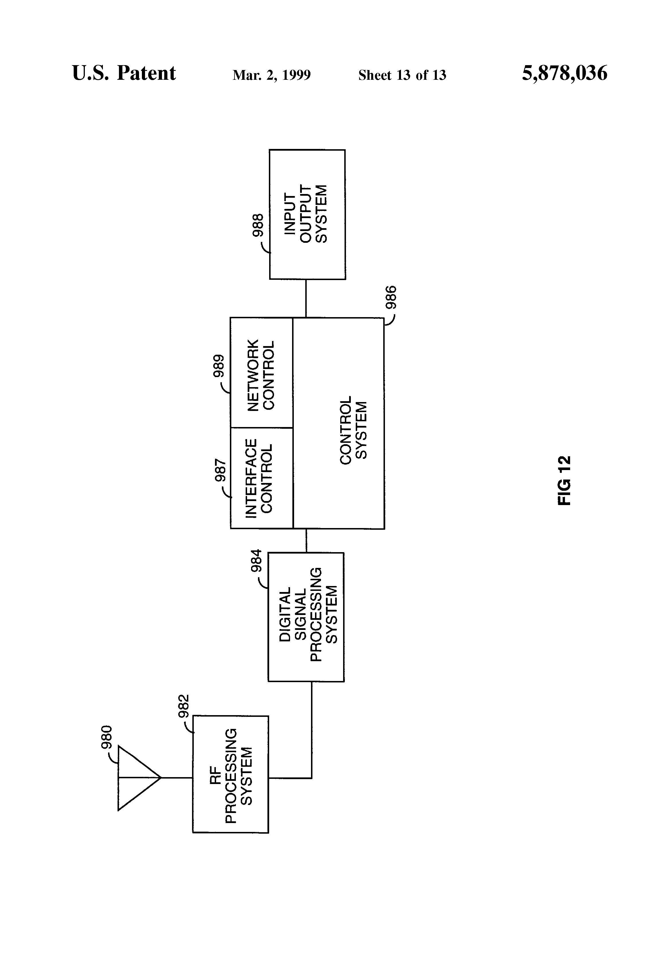 Patent Us5878036 Wireless Telecommunications System Utilizing Cdma 587 Block Signal Wiring Diagram Drawing