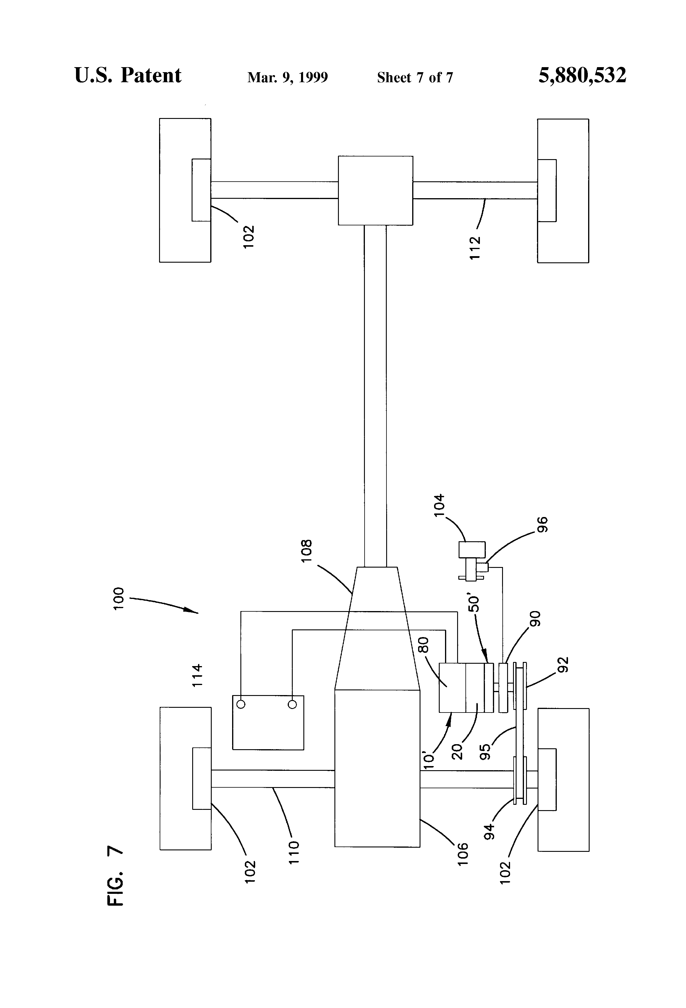 Patent Us5880532 Wind Up Power Source With Spring Motor