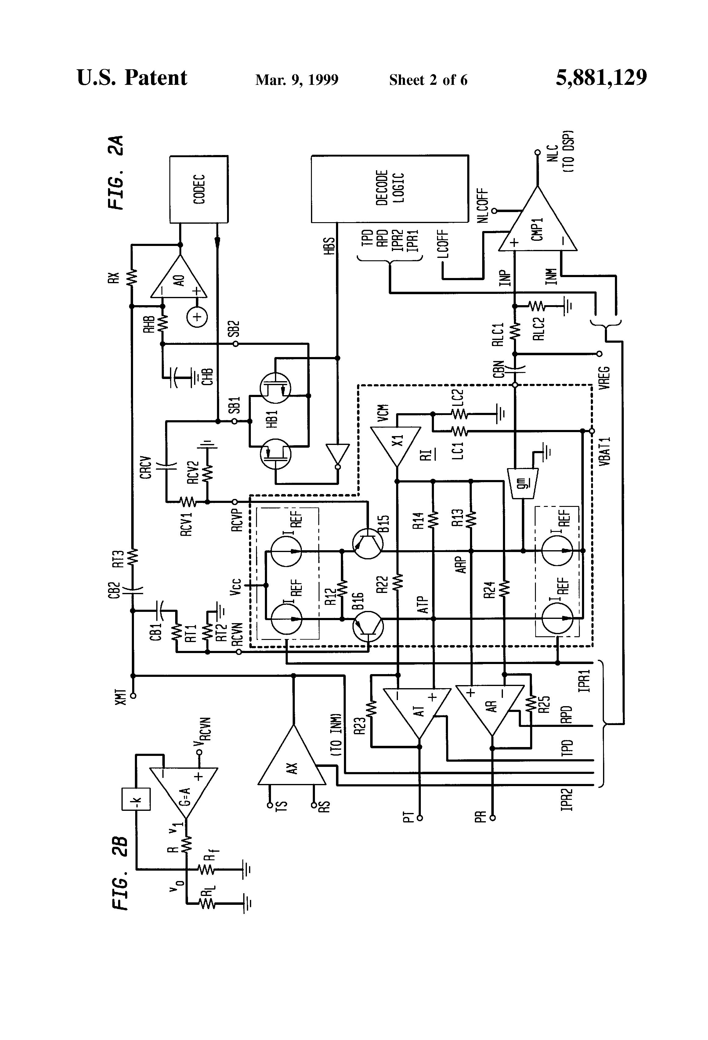 patent us5881129 - self-monitoring line interface circuit