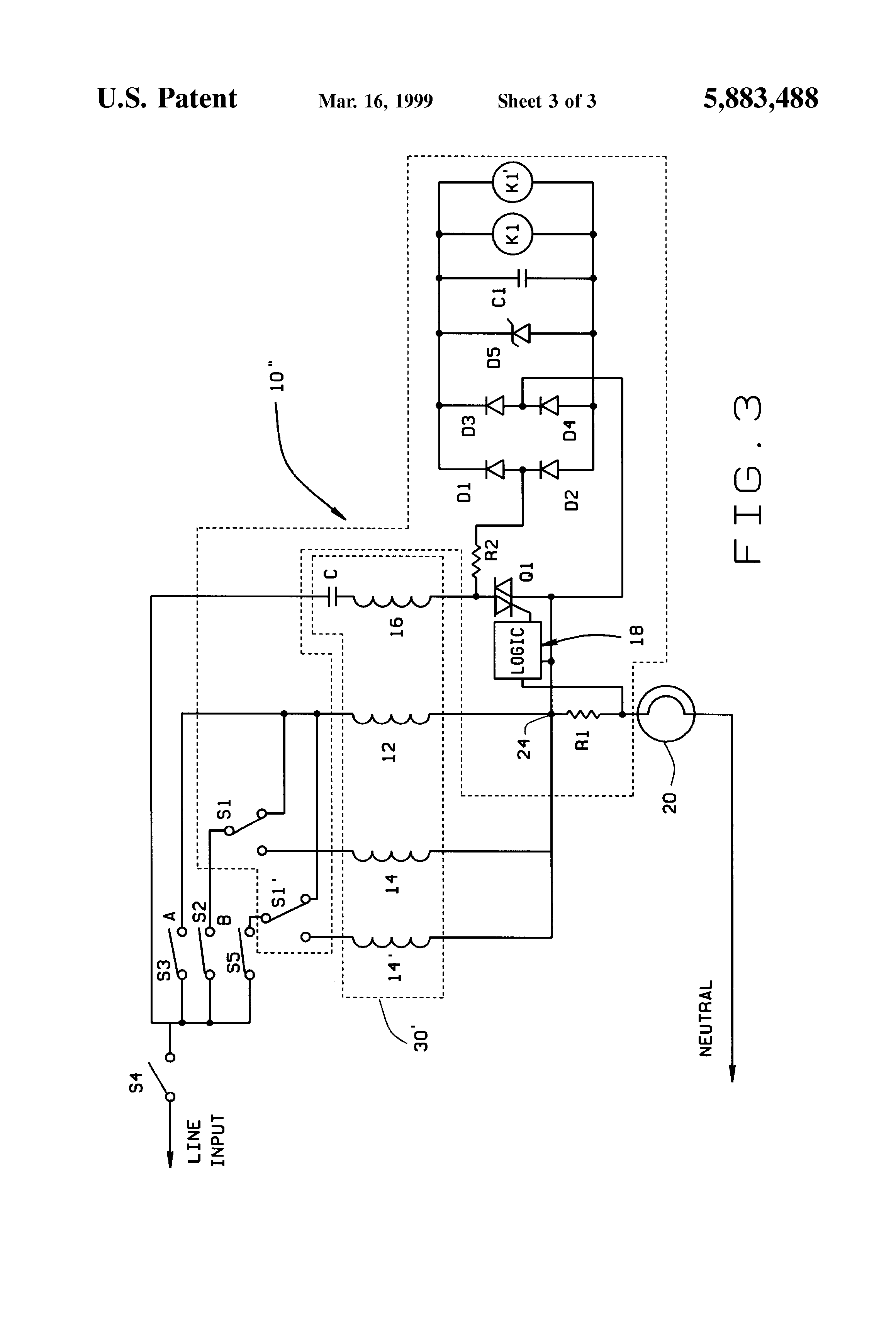 Patent US Method And Apparatus For Multispeed Hybrid - Electromechanical relay logic