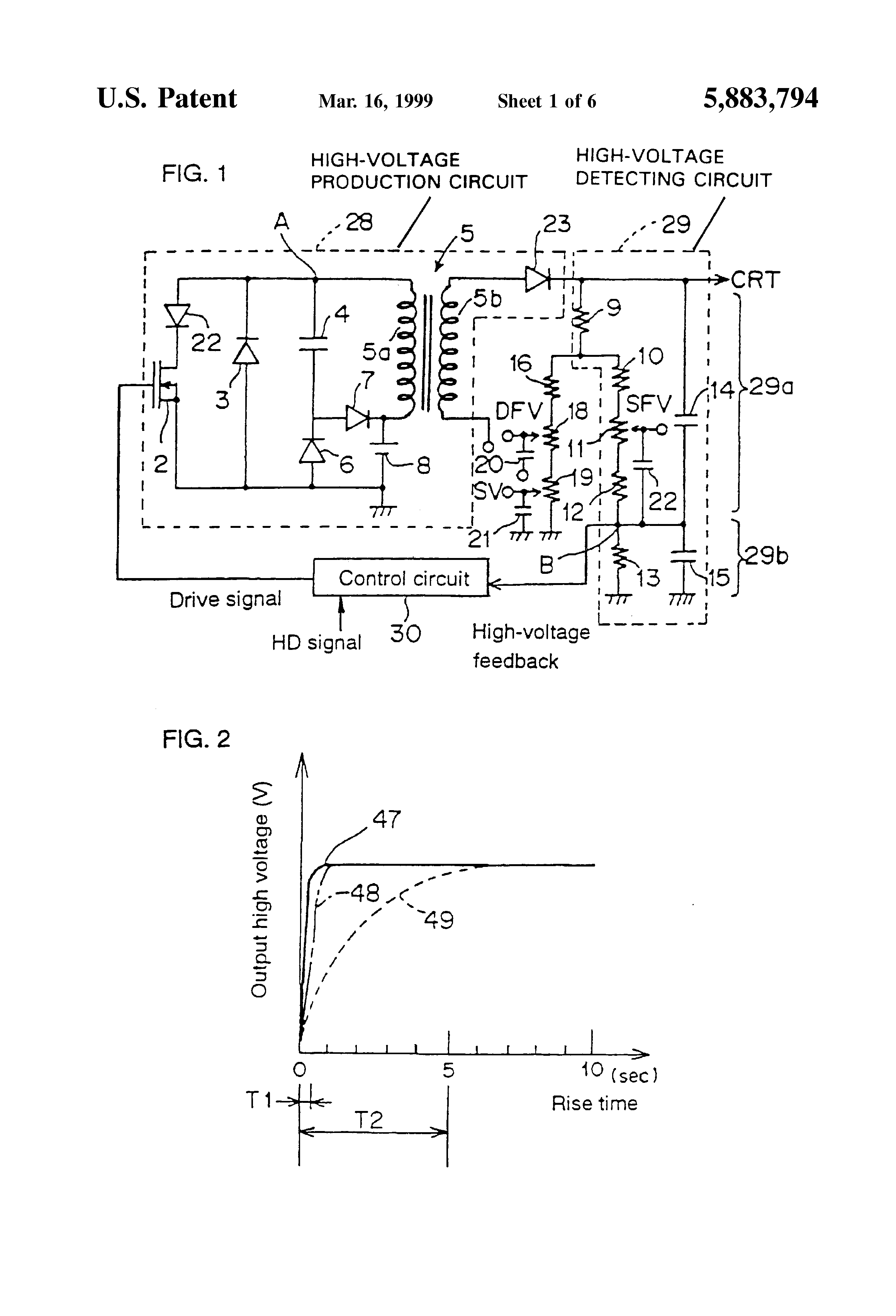 patent us5883794 high voltage generating circuit including high rh google gg