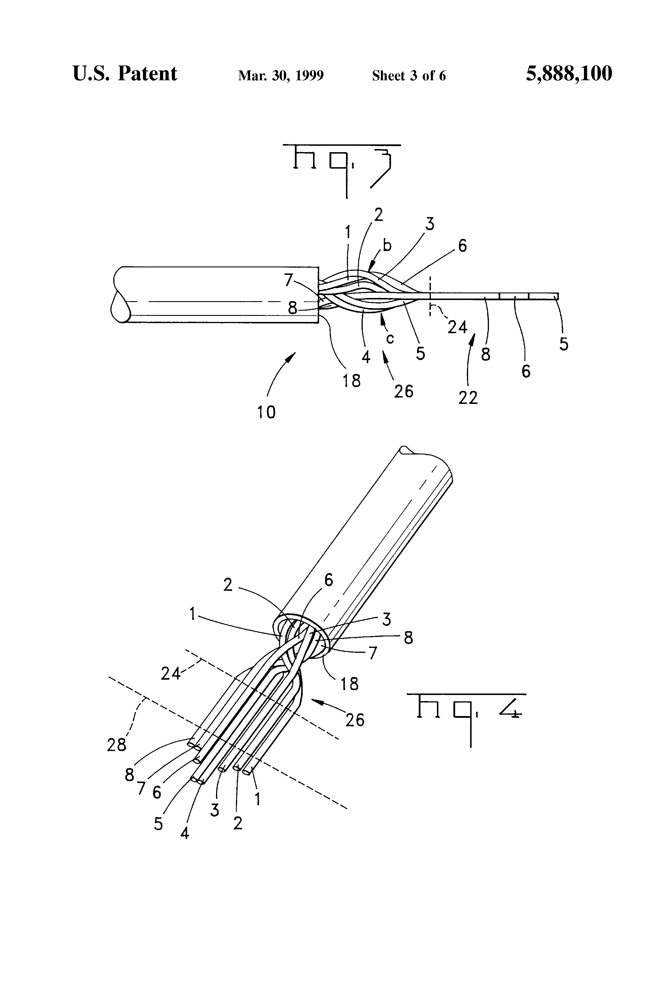 patent us5888100 - twisted pair cable and connector assembly