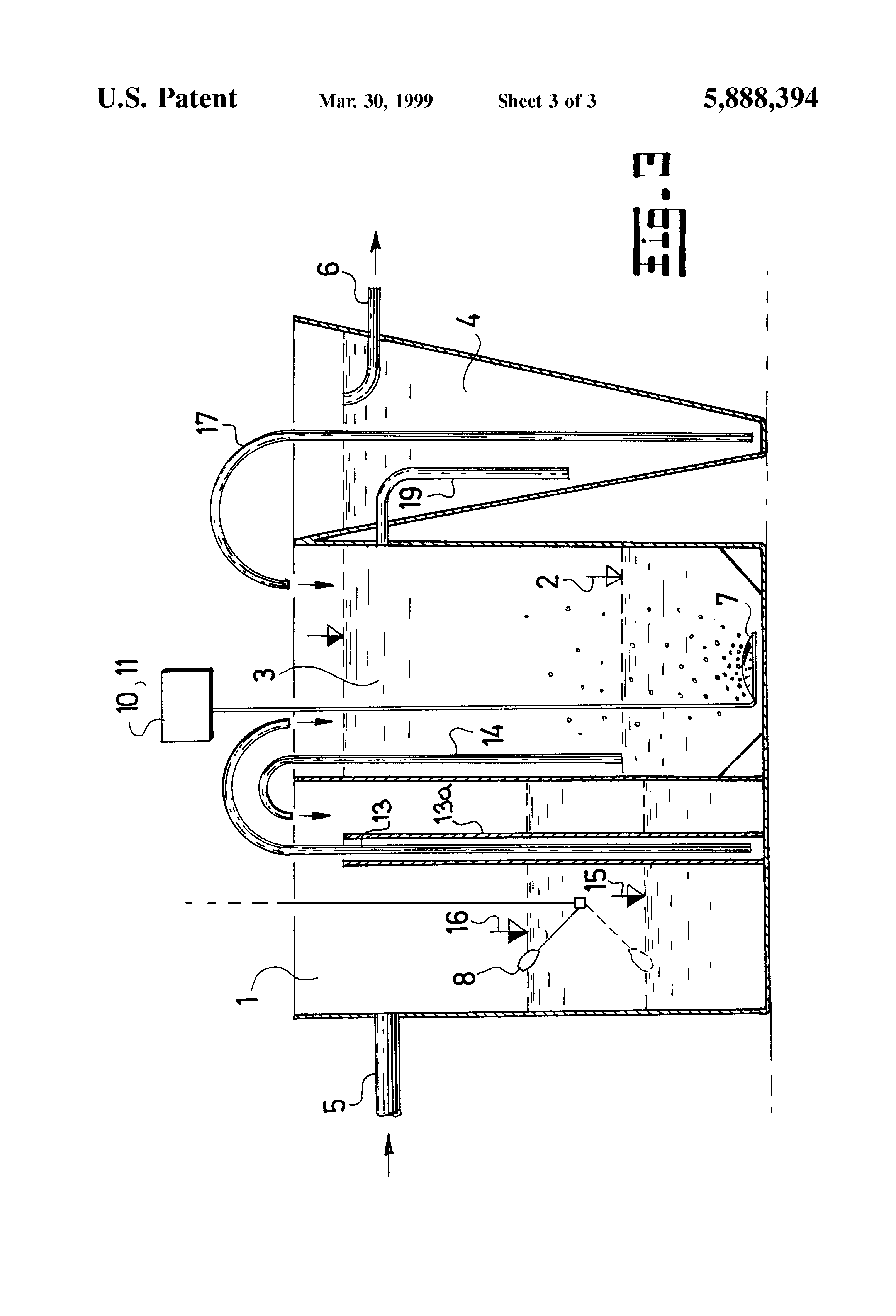 Patent Us5888394 Method And Apparatus For Sewage Water Treatment S Sbr Process Flow Diagram Drawing