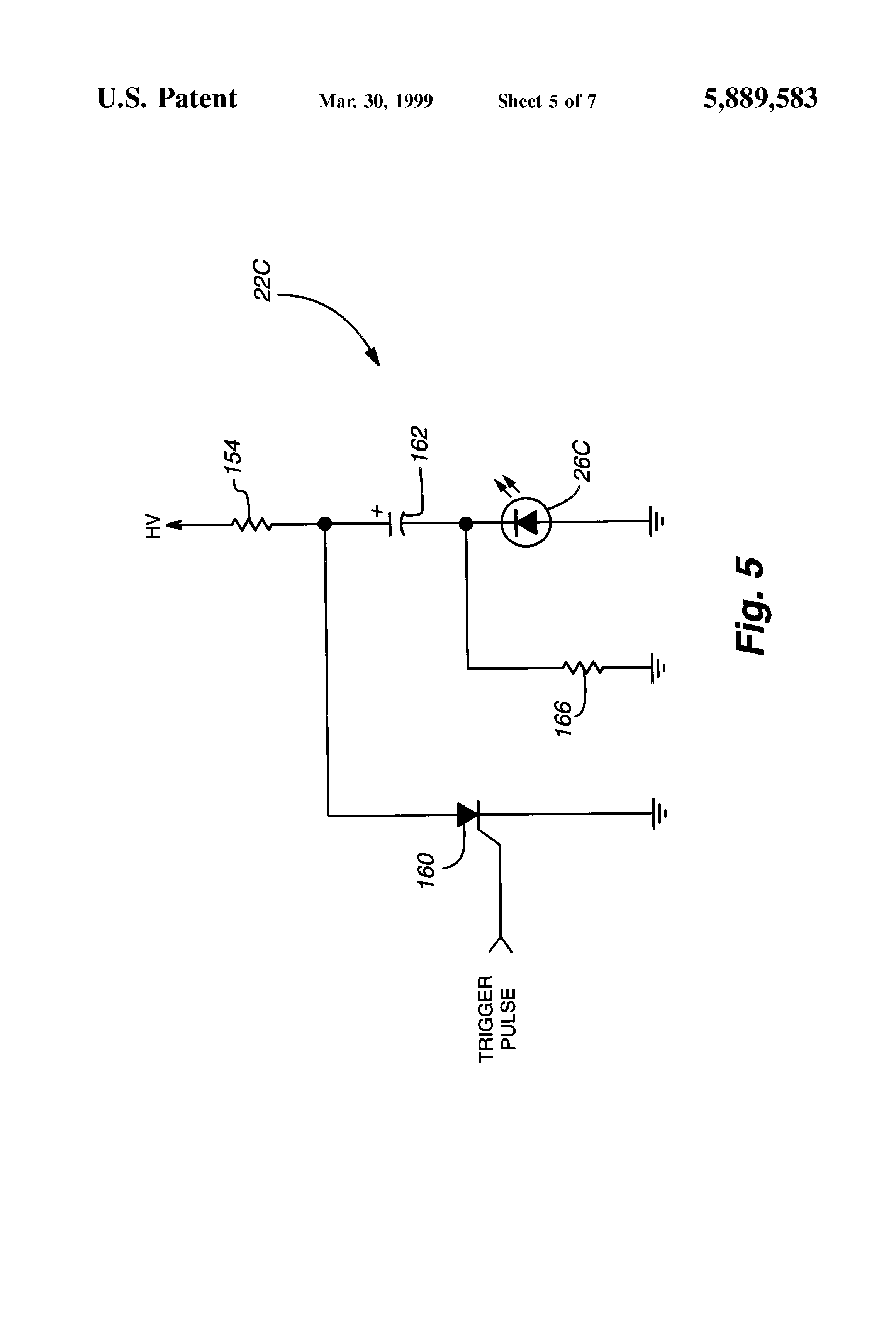 Patent Us5889583 Distance Measurement And Ranging Instrument Laser Diode Diagram Pulse Circuits For Infrared Leds Visible Drawing