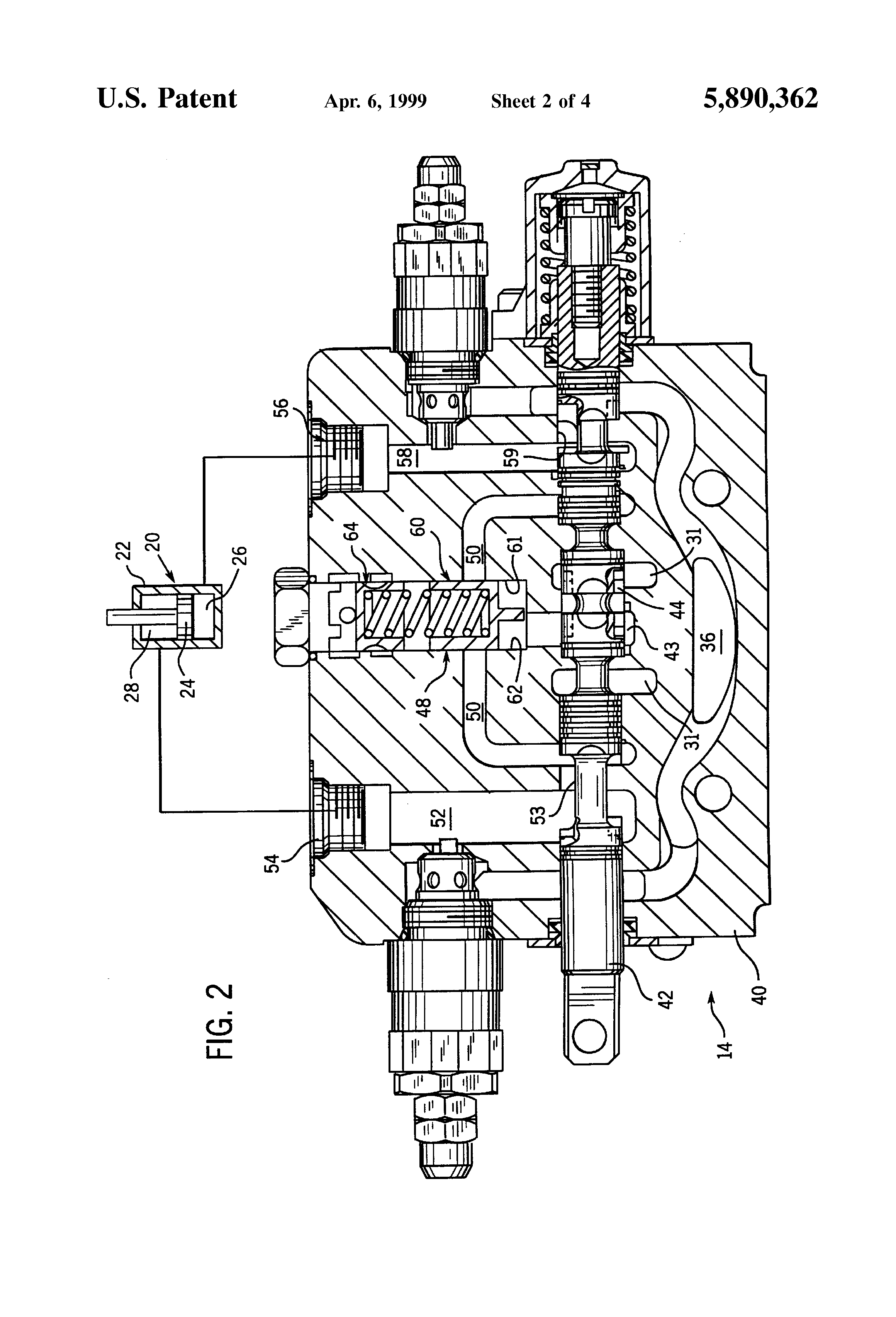Hydraulic System Drawing : Patent us hydraulic control valve system with non