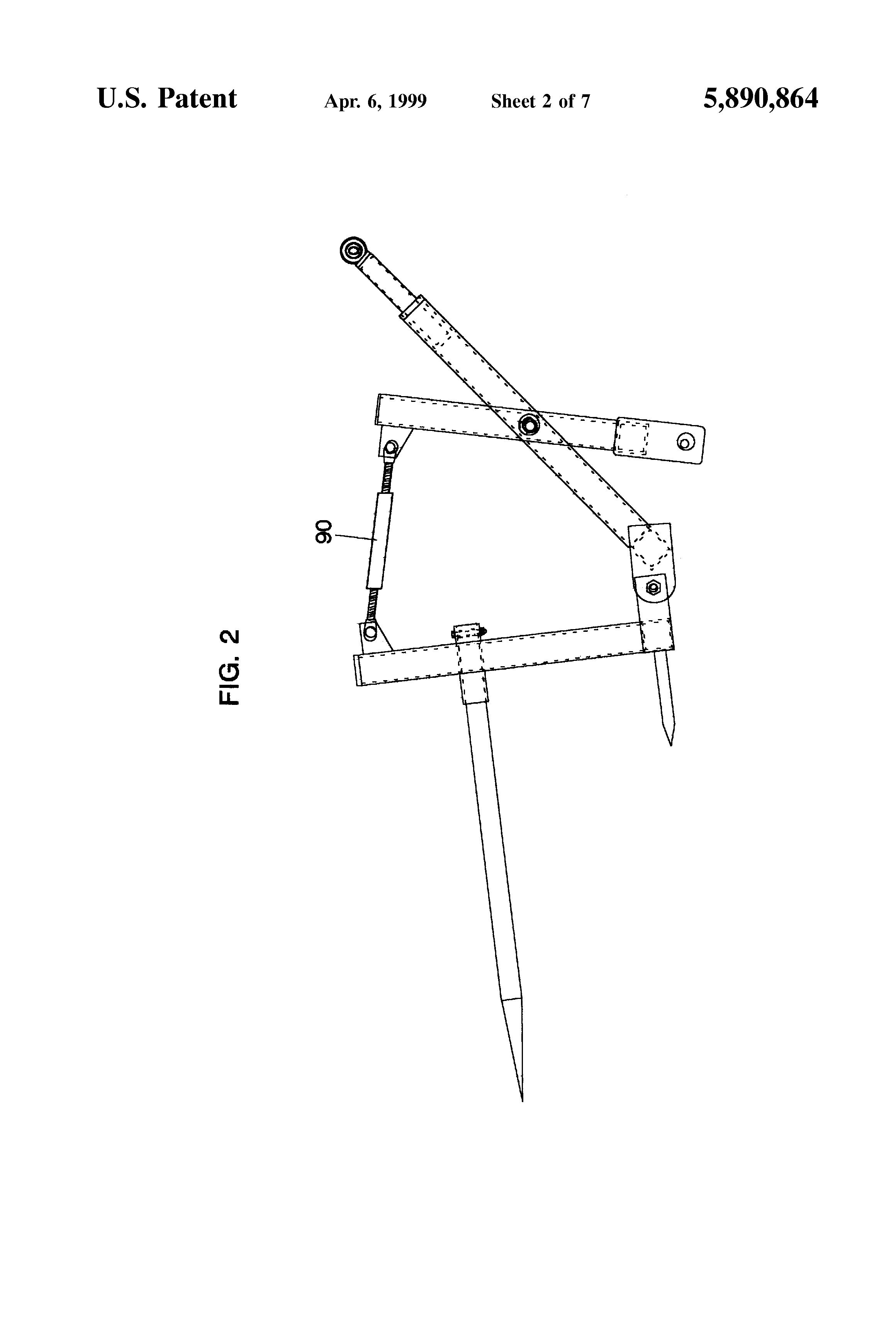 Hay Scissor Lift : Patent us heavy duty hay scissors lift google