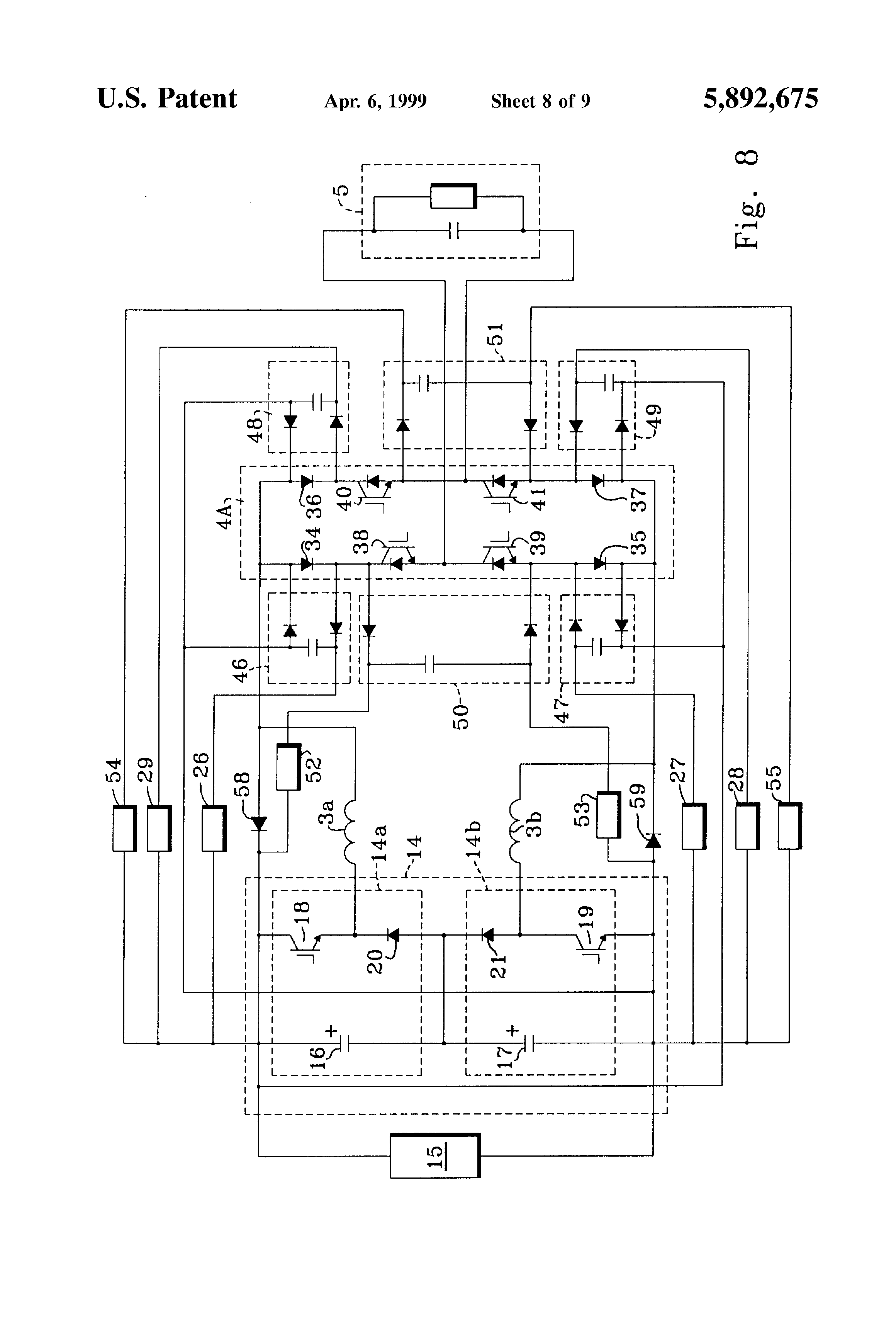 Patent Us5892675 Ac Current Source Circuit For Converting Dc Diagram Made In Proteus Shows The Pwm Generator Drawing