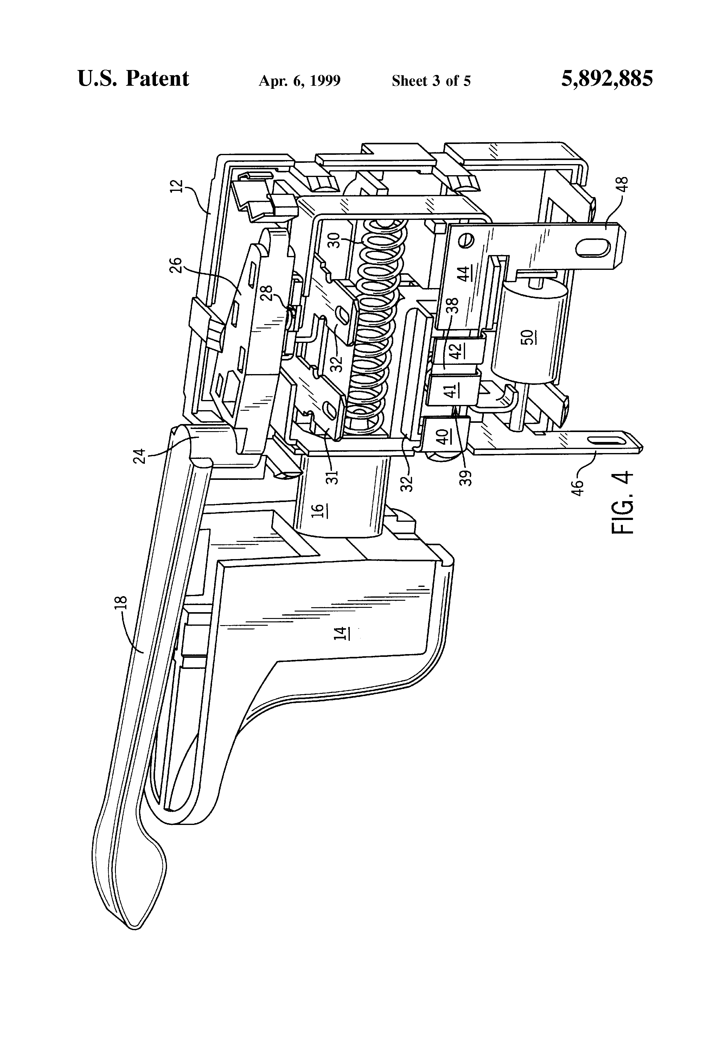 Patent US5892885     Variable    speed control    switch    for