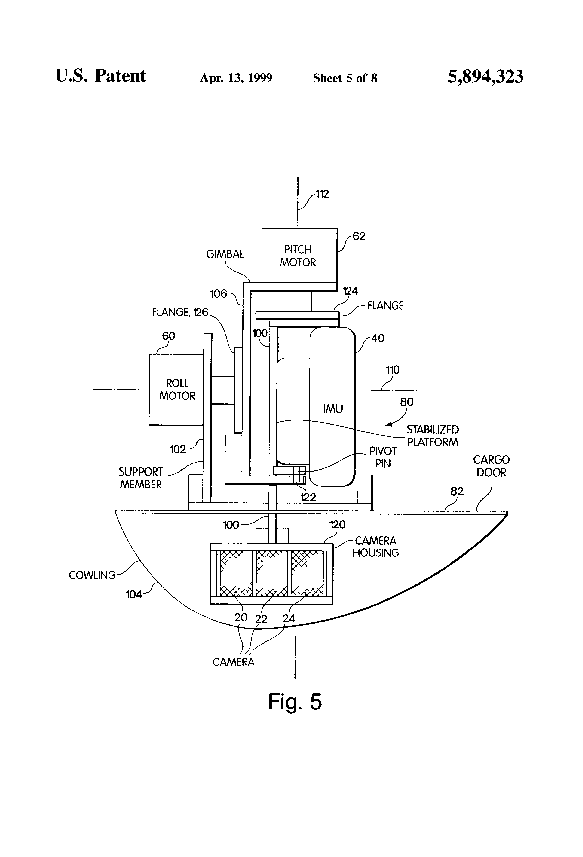 patent us5894323 airborne imaging system using global