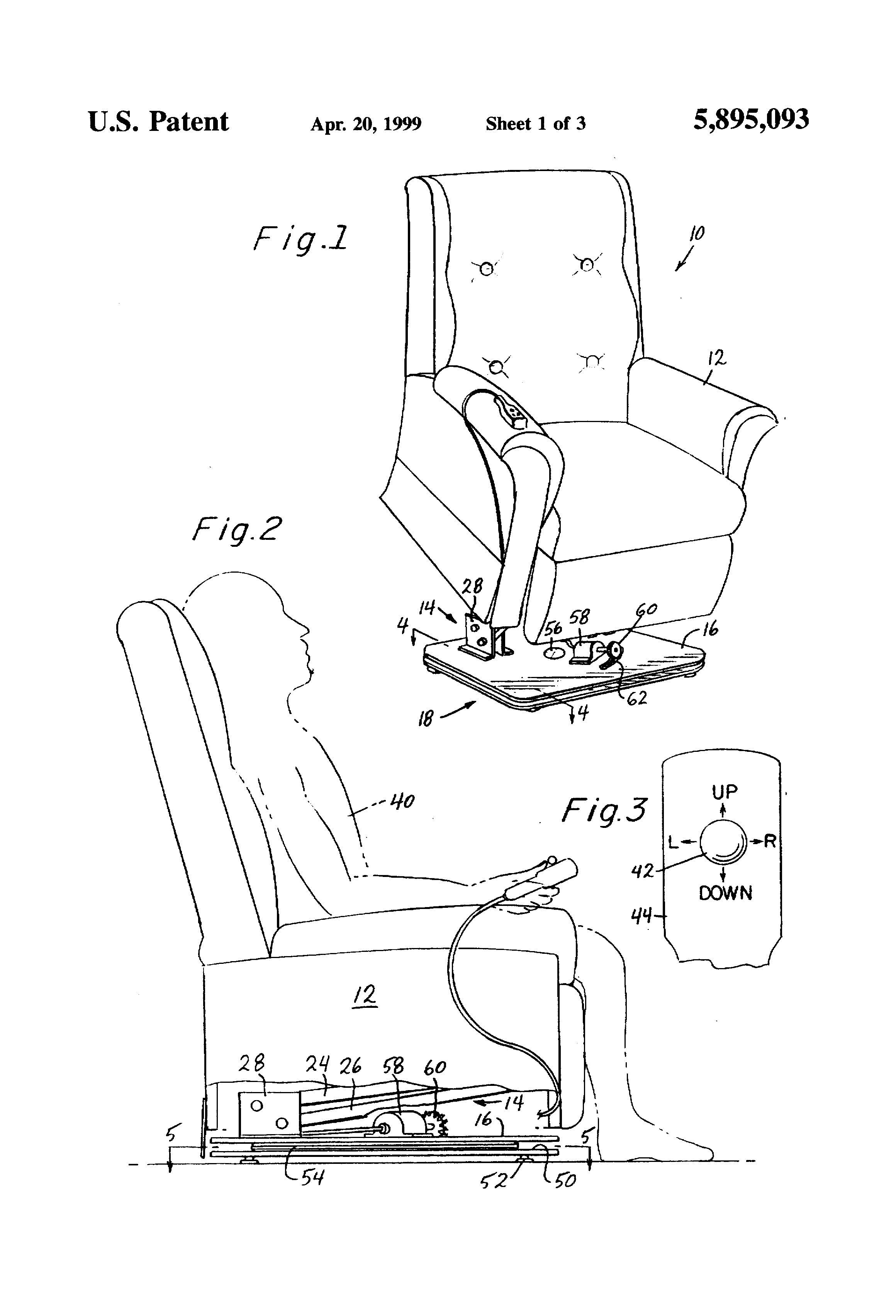 Patent US Recliner lift chair with swivel base Google