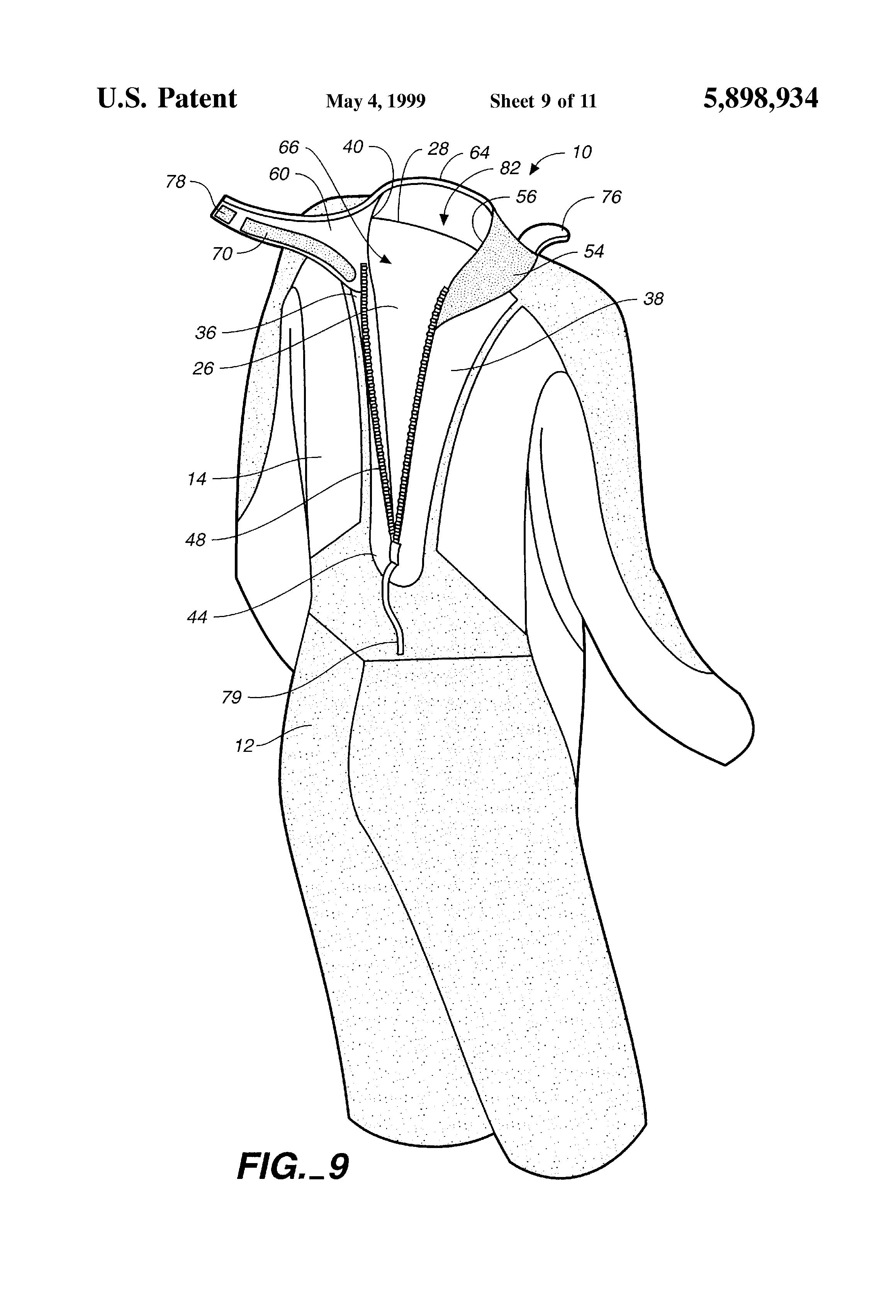 patent us5898934 neck entry wetsuit google patents
