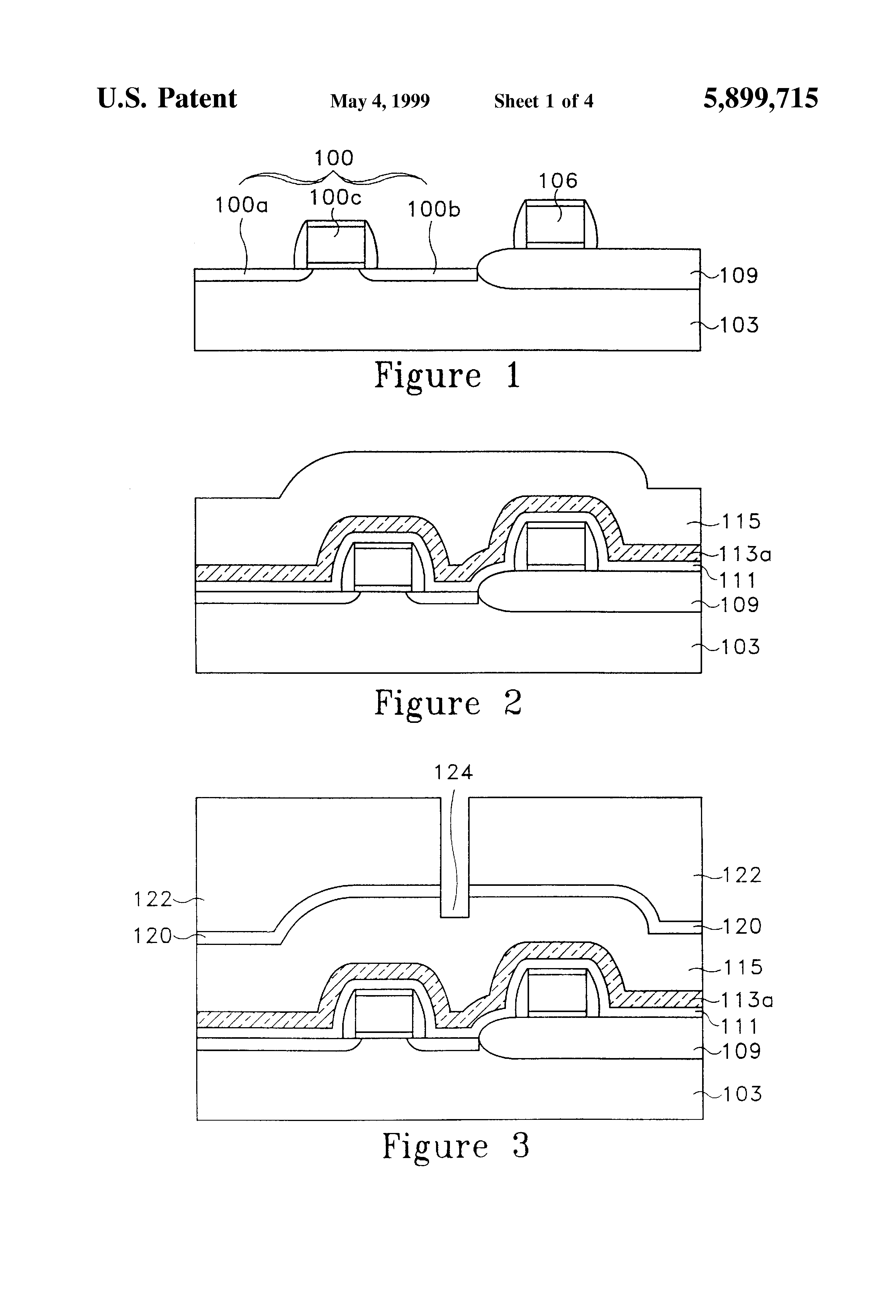 Patent US5899715 - Method to form a capacitor for high density ...
