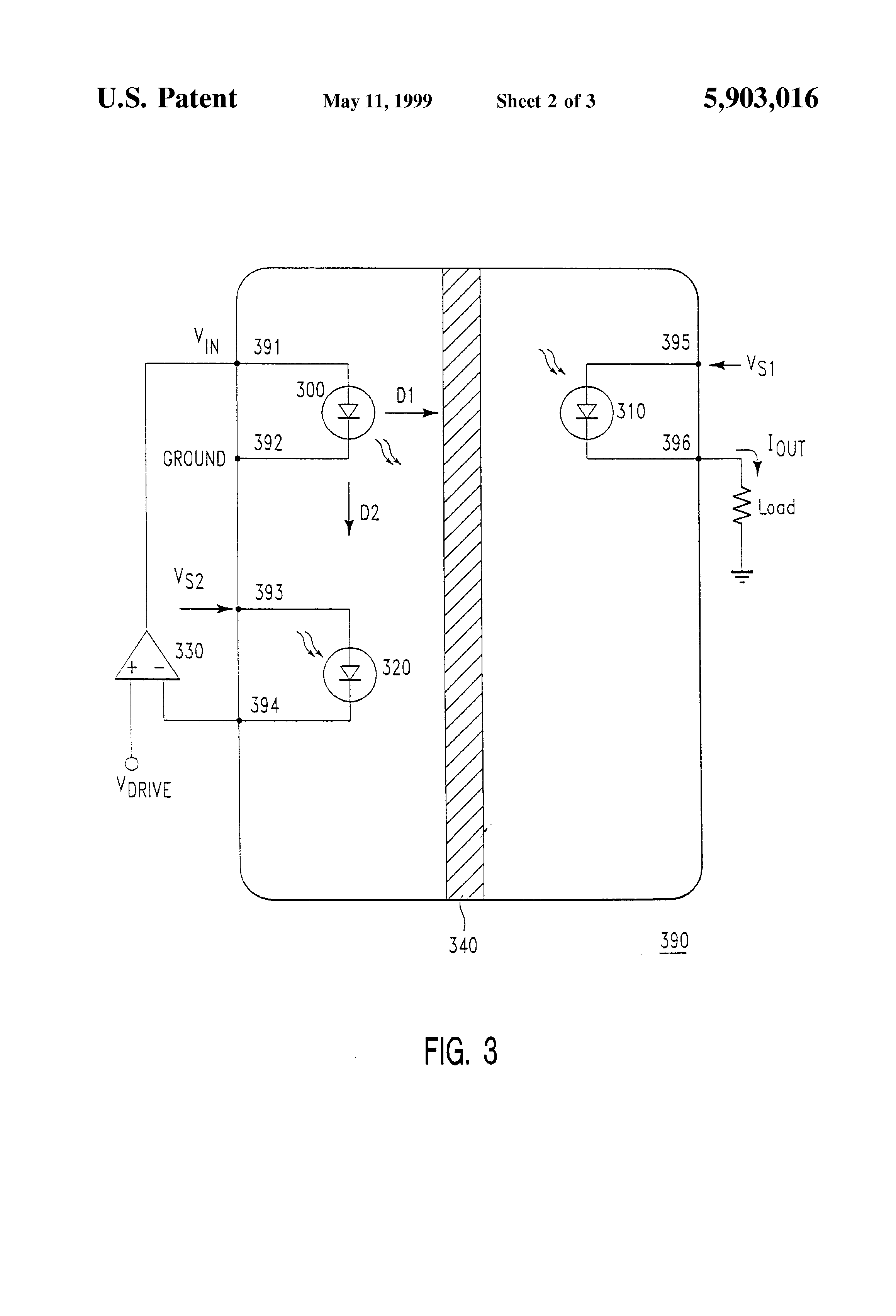 Patent Us5903016 Monolithic Linear Optocoupler Google Patents Opto Isolator Circuits Drawing