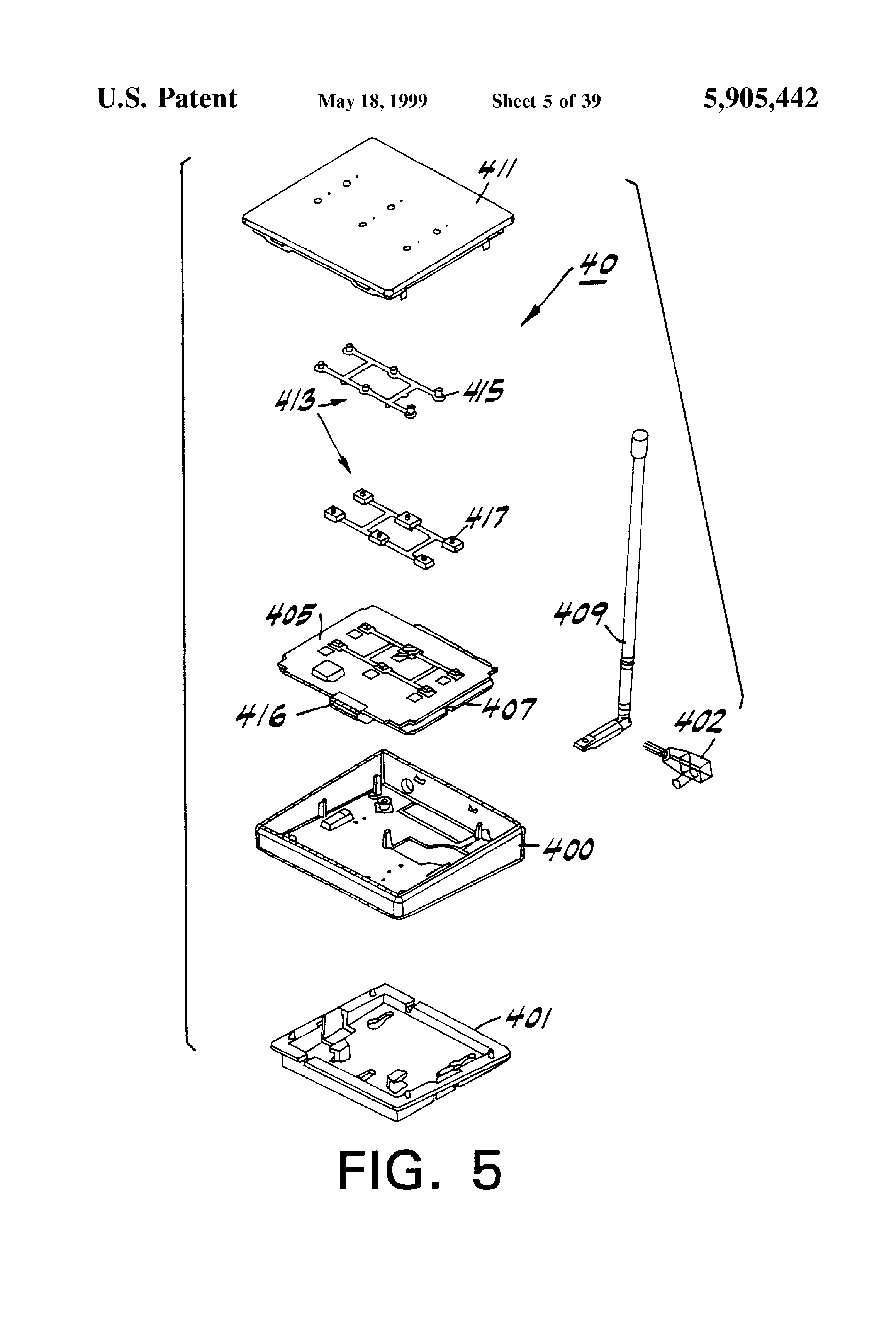 patent us5905442 method and apparatus for controlling and