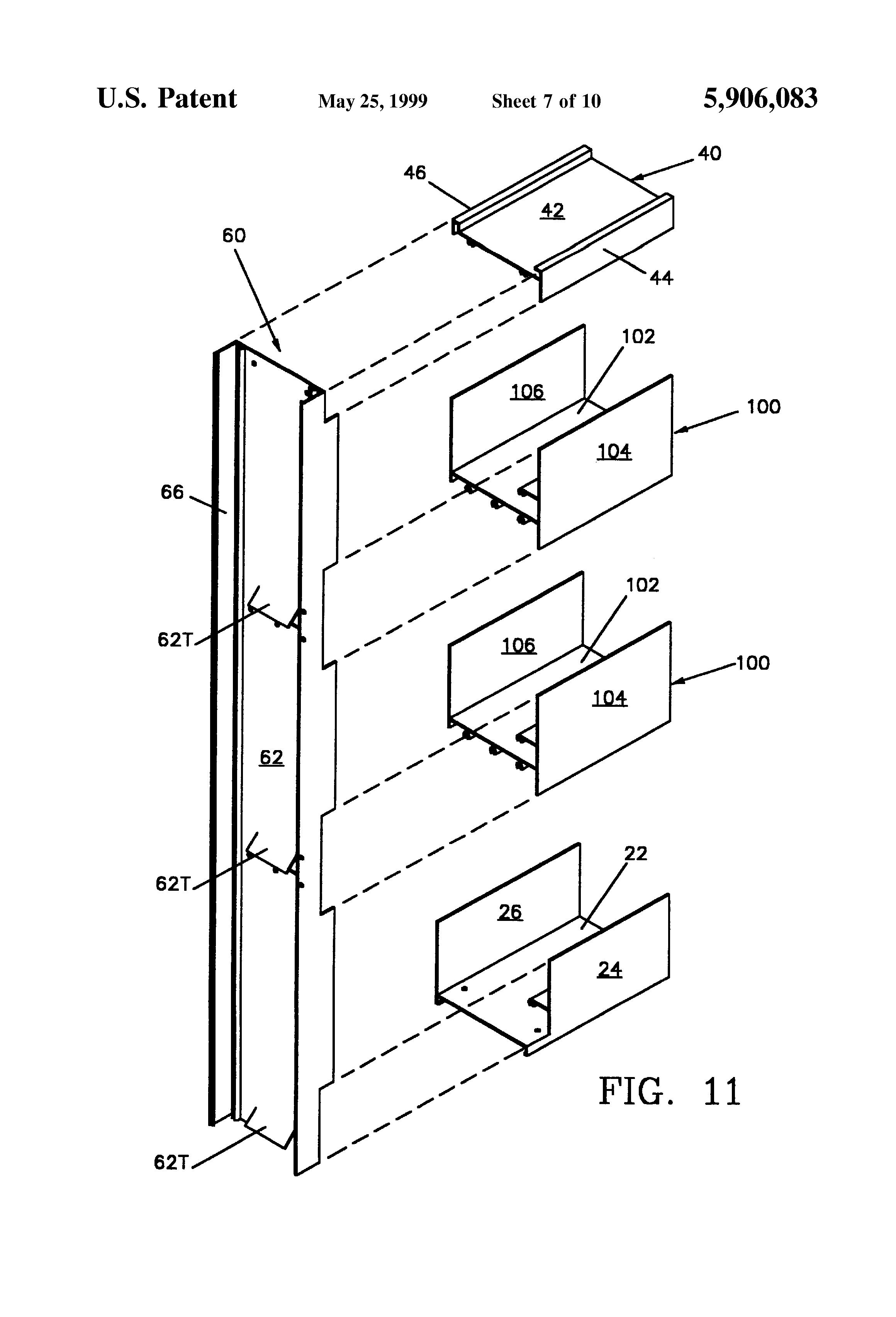 Patent Us5906083 Modular Louver System Google Patents