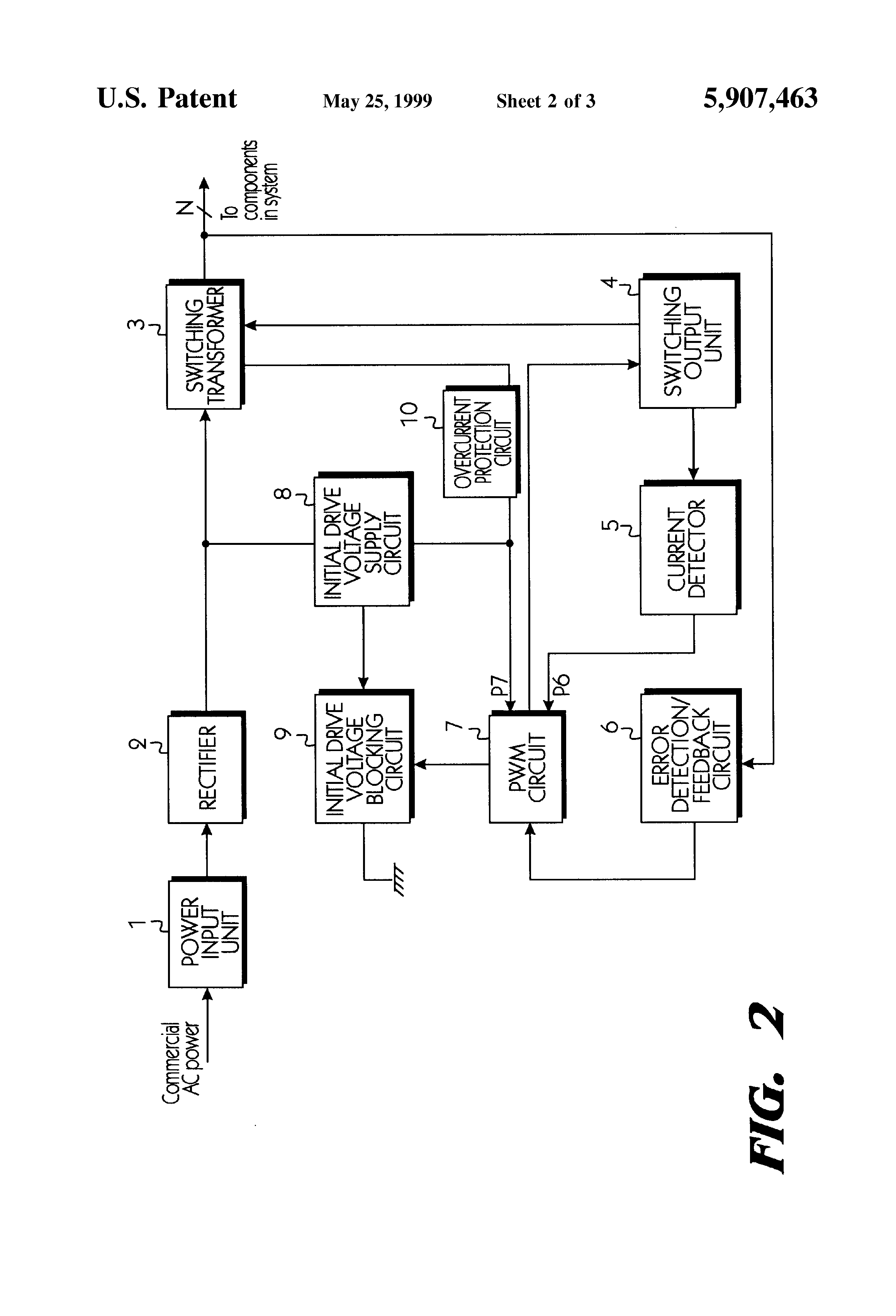 patent us5907463 - overcurrent protection circuit