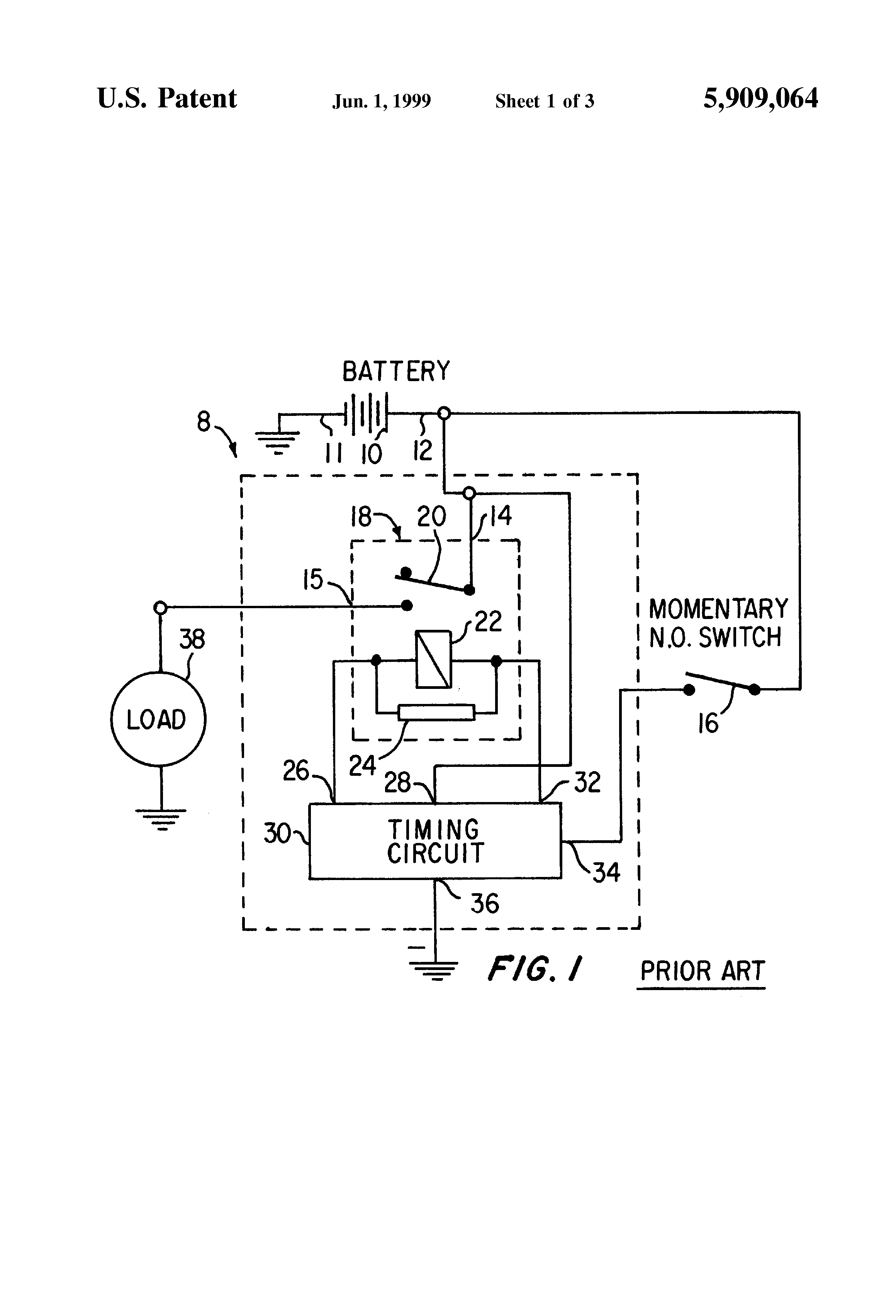 patent us5909064 - time delay relay circuit