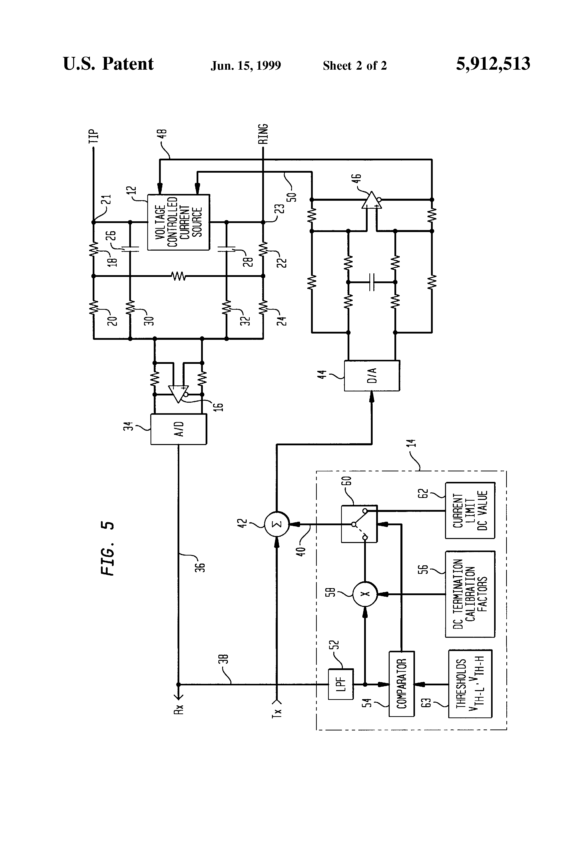 Patent Us5912513 Method And Apparatus For Reducing Power Current Limit Circuit Drawing