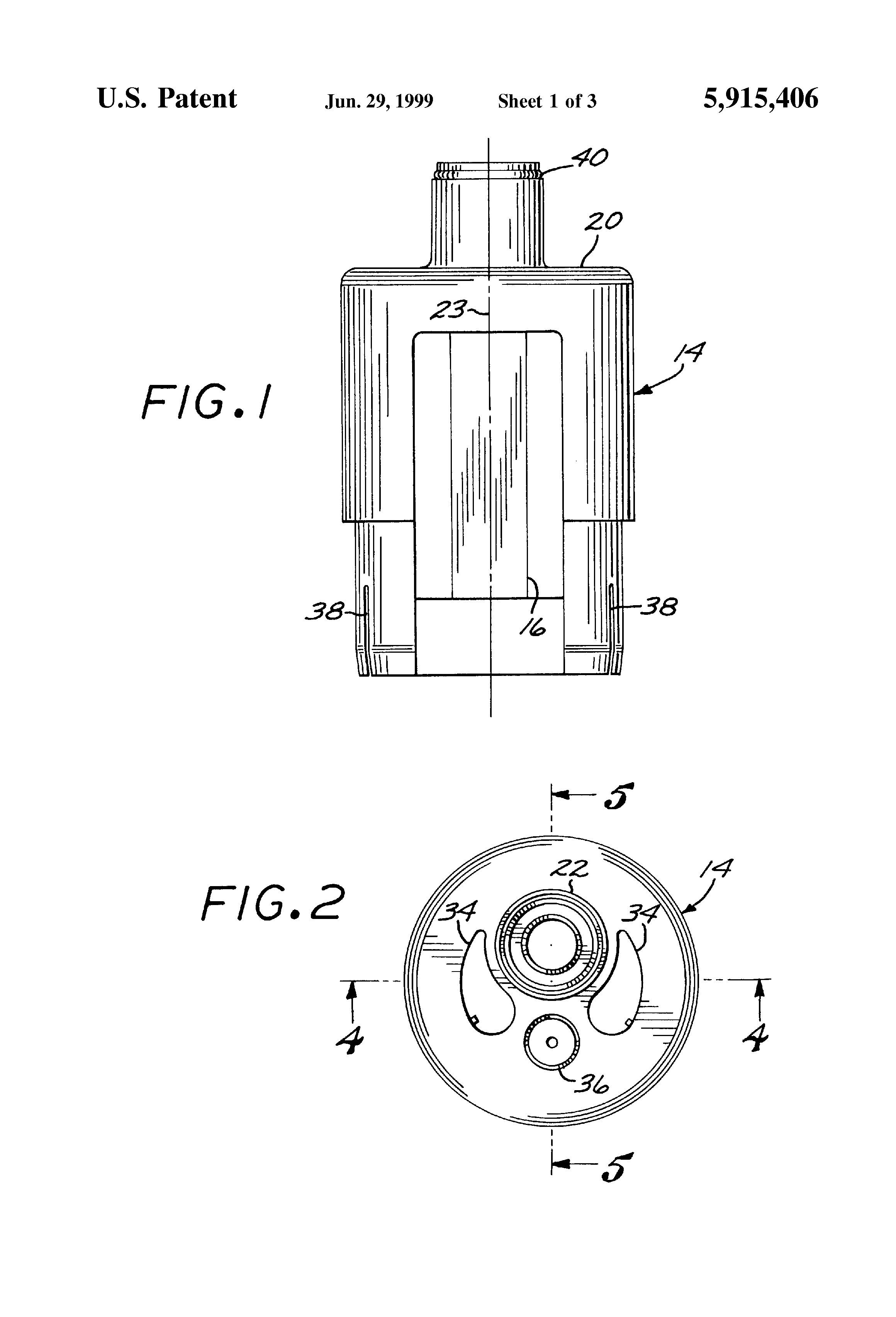 Patent us air gap device for water softener
