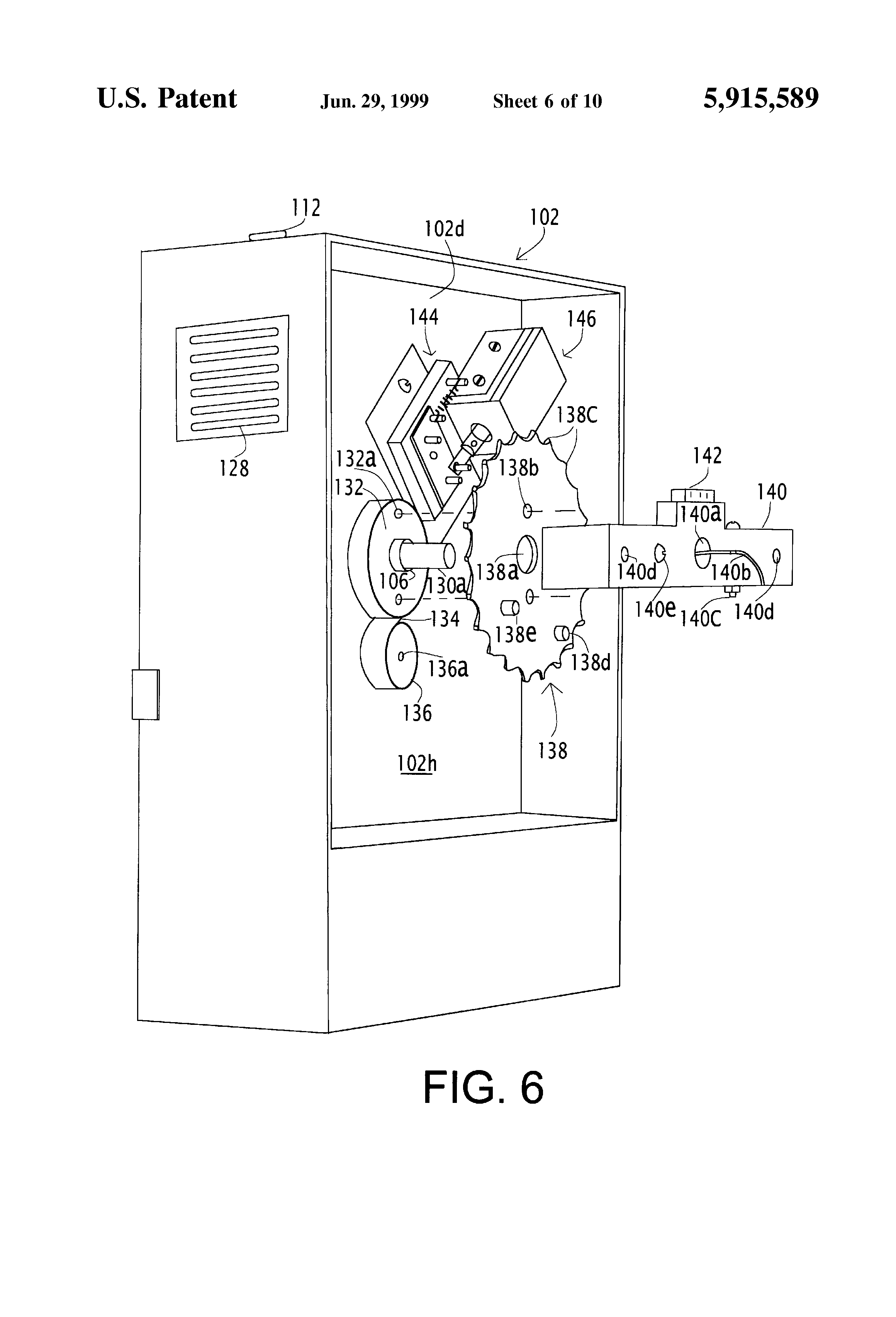 patent us5915589 - programmable automatic pill dispenser with pawl indexing mechanism