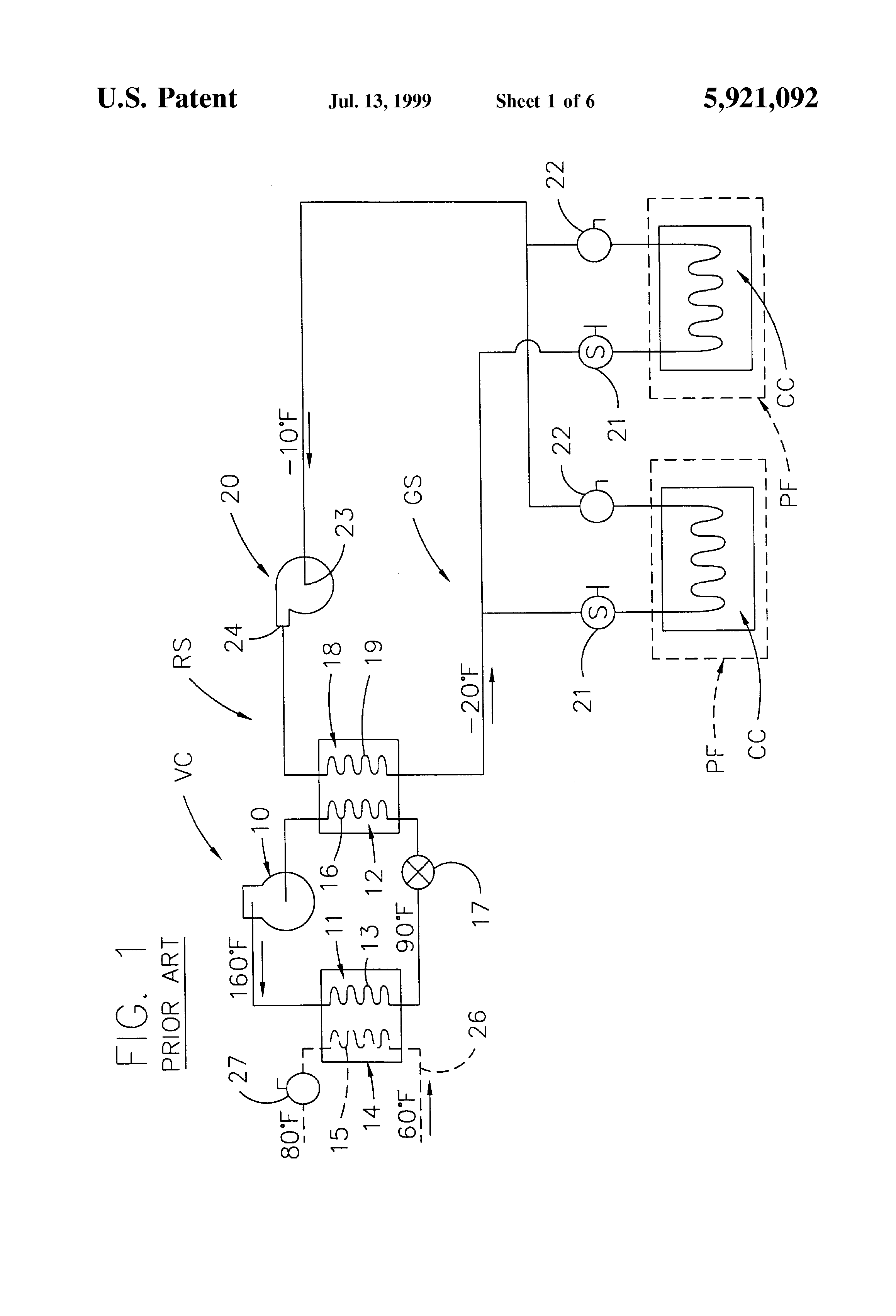 Patent Us5921092 - Fluid Defrost System And Method For Secondary Refrigeration Systems