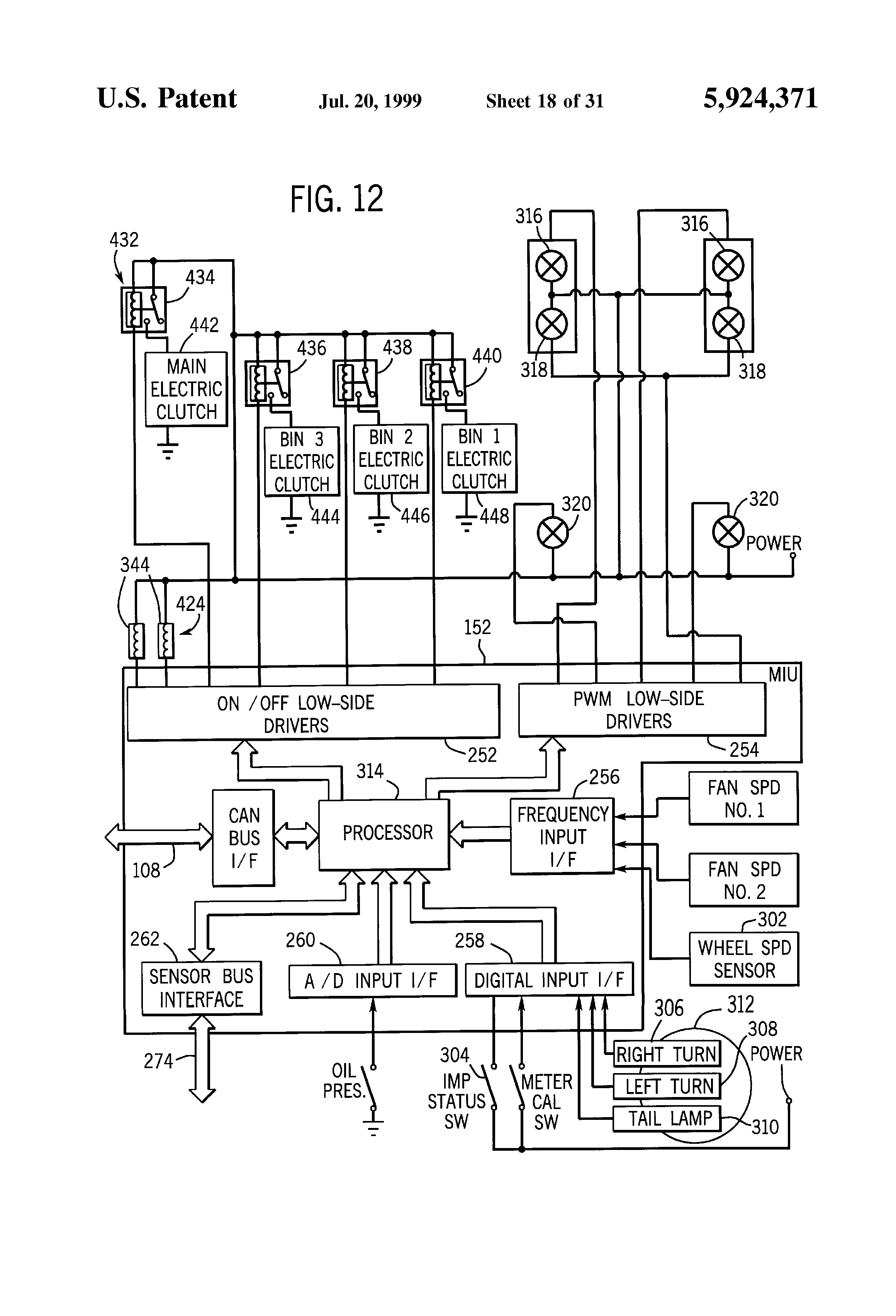 patent us5924371 global controller and distributed local patent drawing
