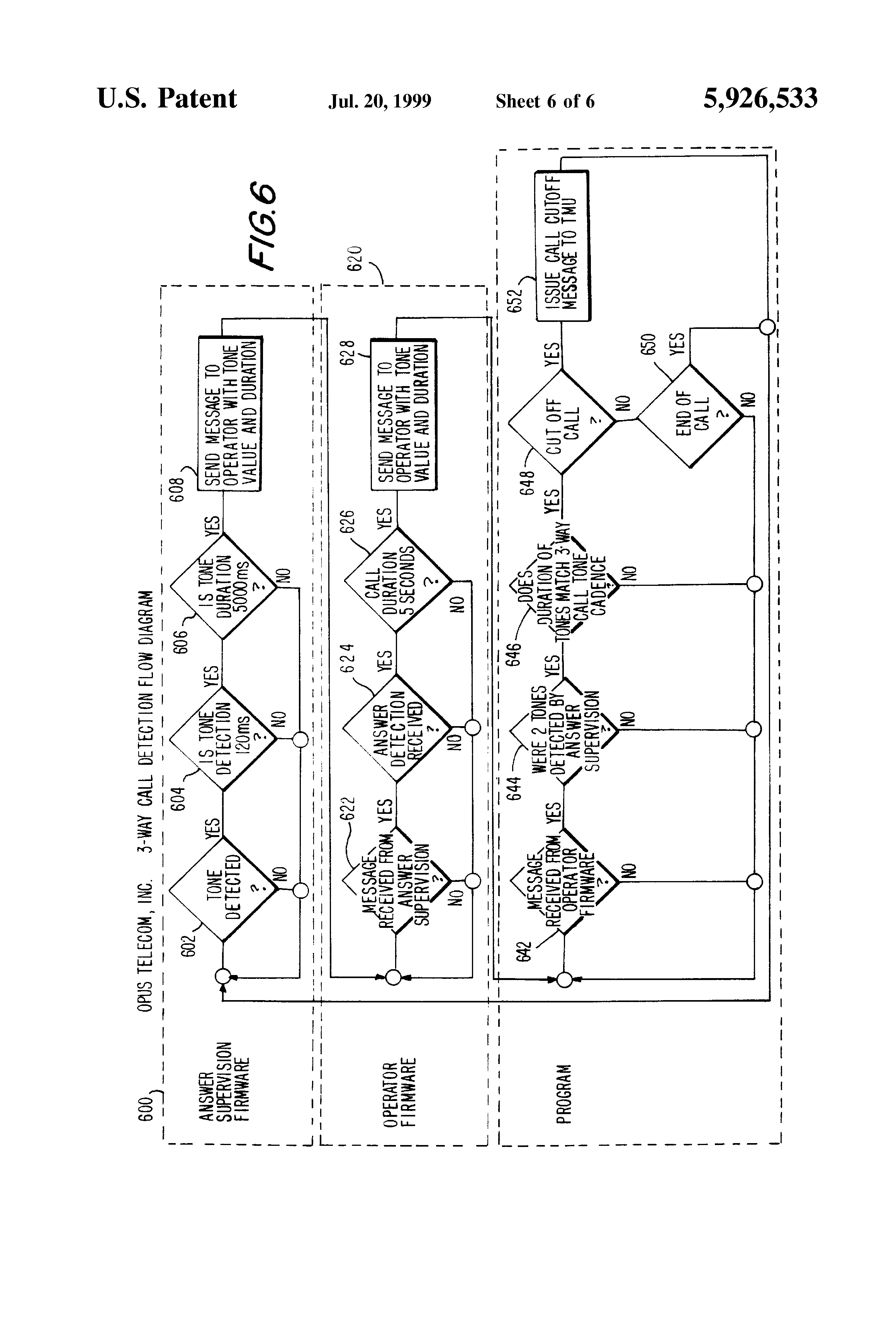 Patent Us5926533 Computer Based Method And Apparatus For Cut Phone Line Detector Circuit Drawing