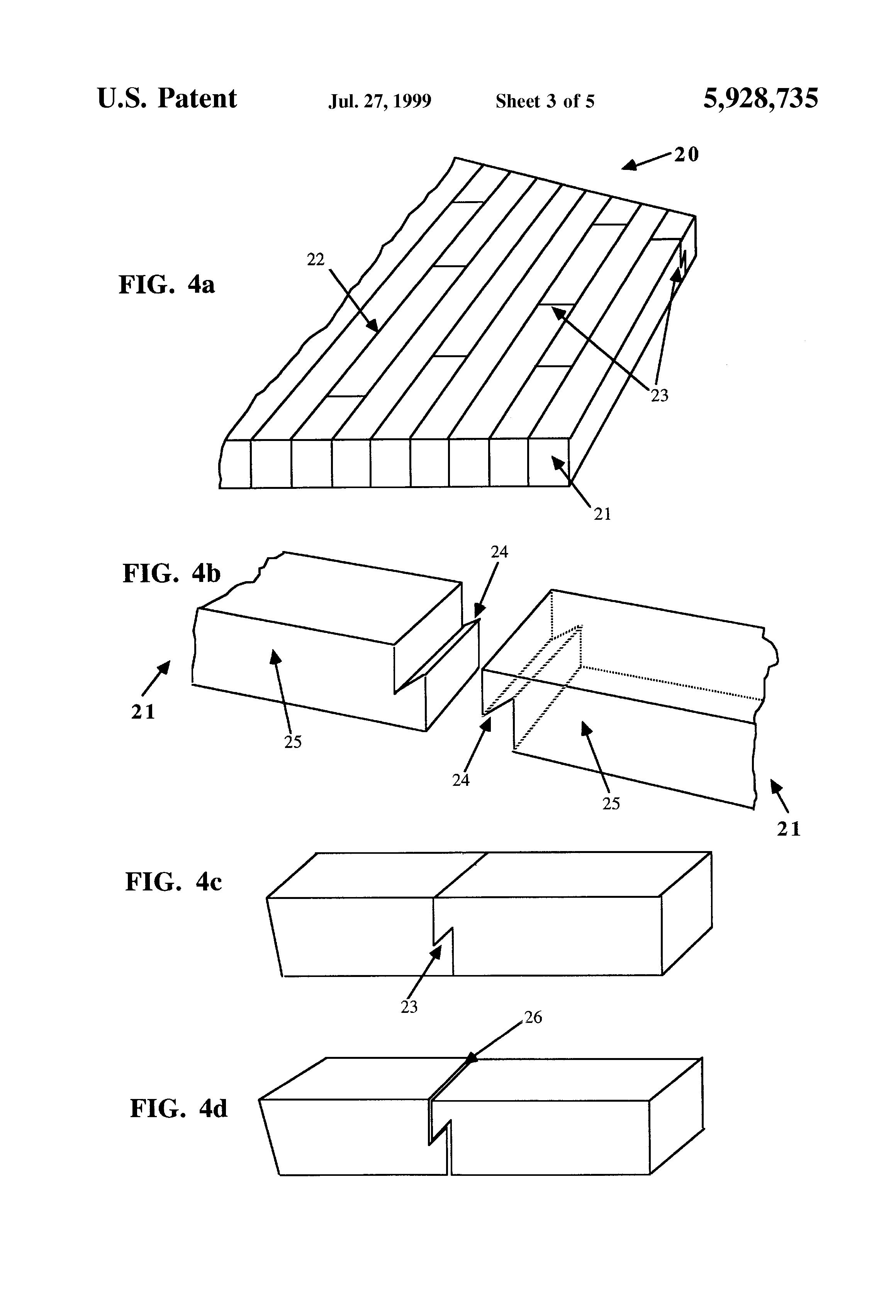 Patent Us5928735 Composite Wood Flooring Google