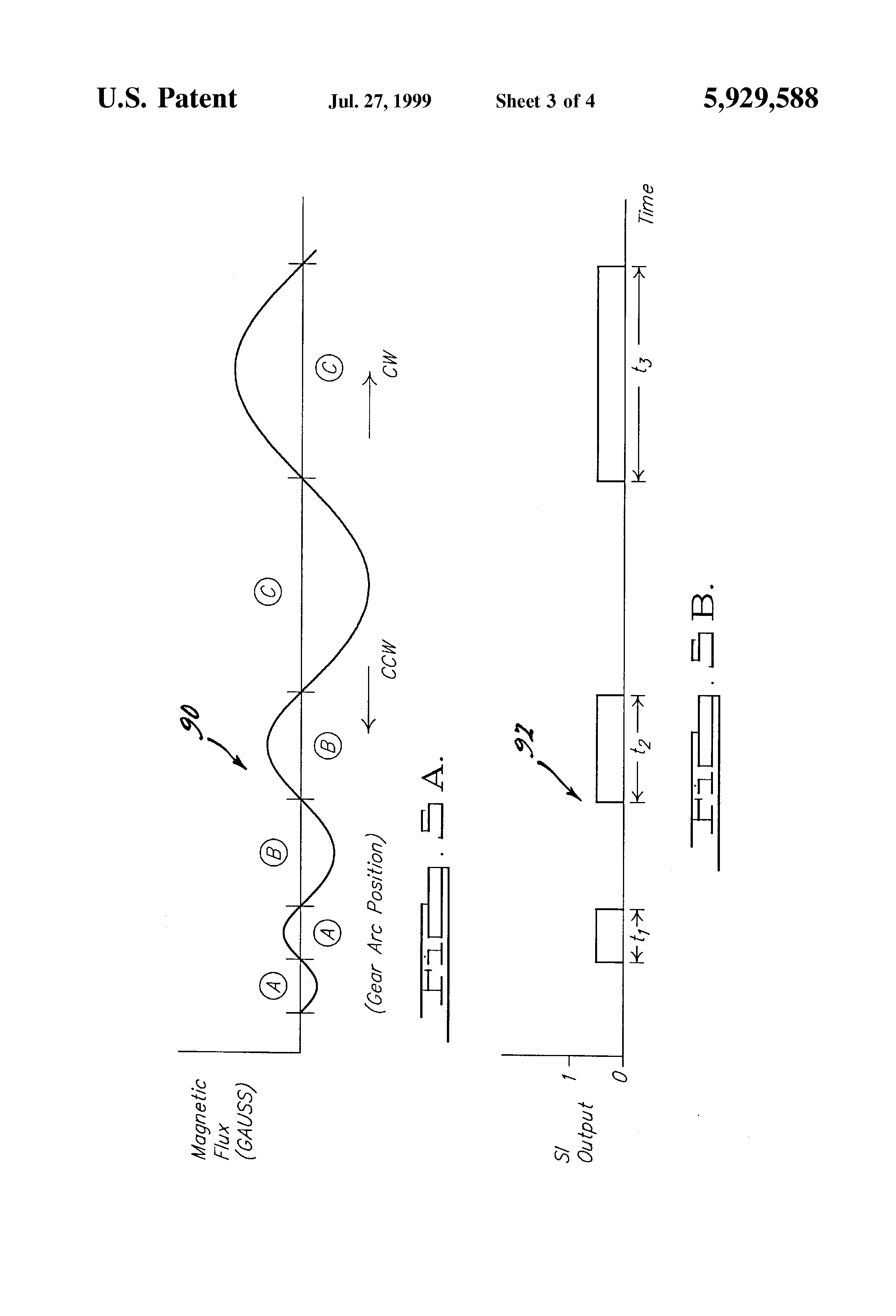 patent us5929588 - electric motor control system for automobile wiper assembly