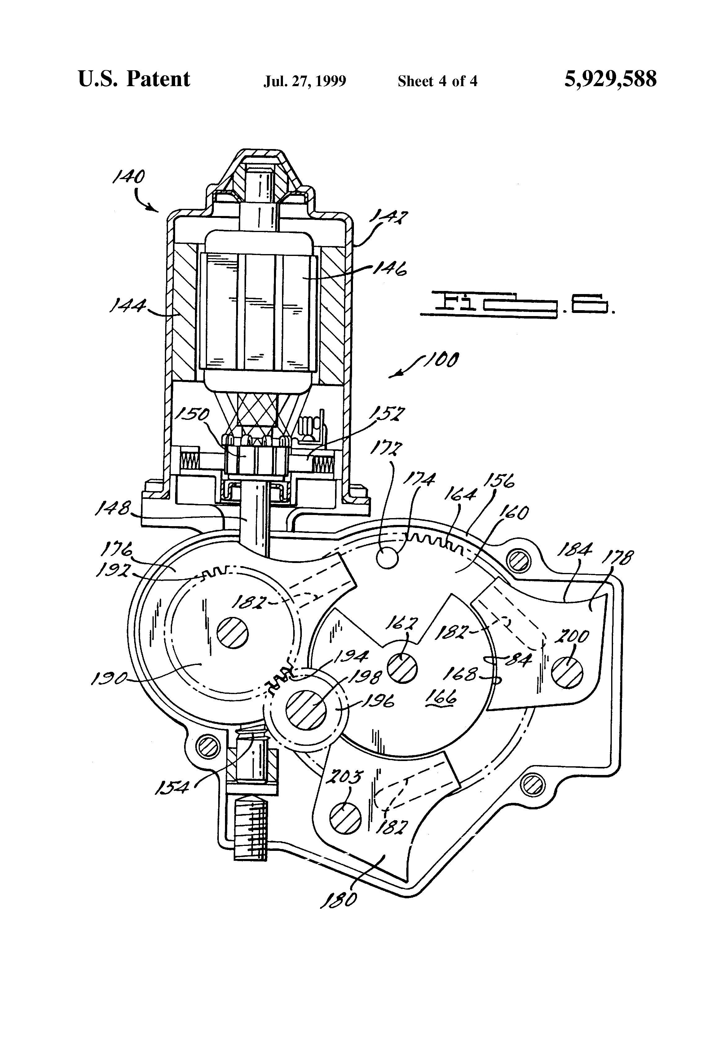 patent us5929588 - electric motor control system for automobile, Wiring diagram